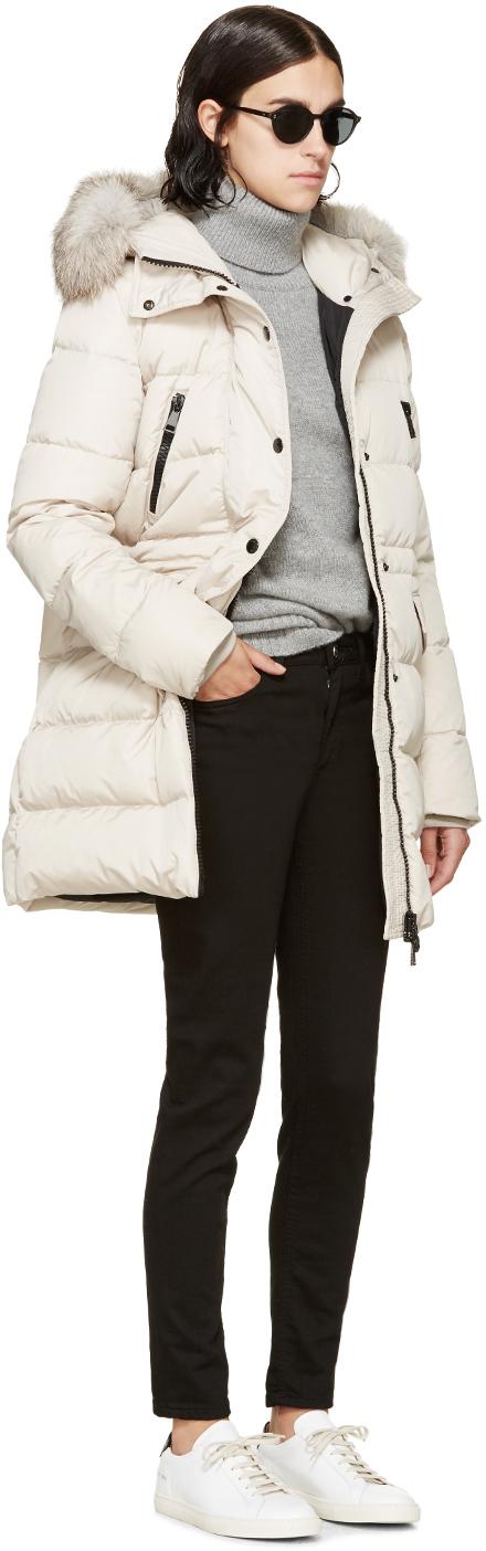Moncler Down Jacket Beige