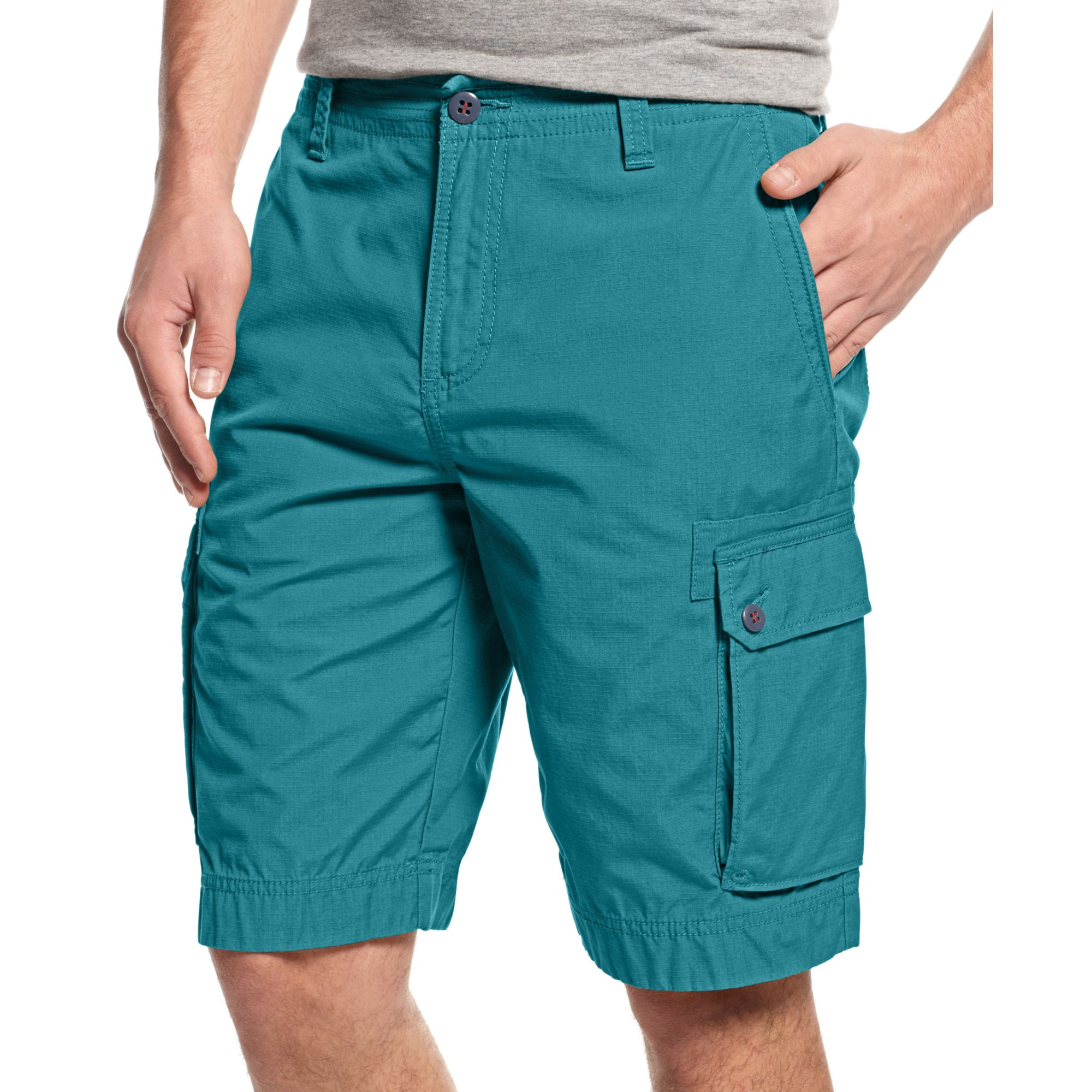Tommy hilfiger New Ripstop Cargo Shorts in Green for Men | Lyst