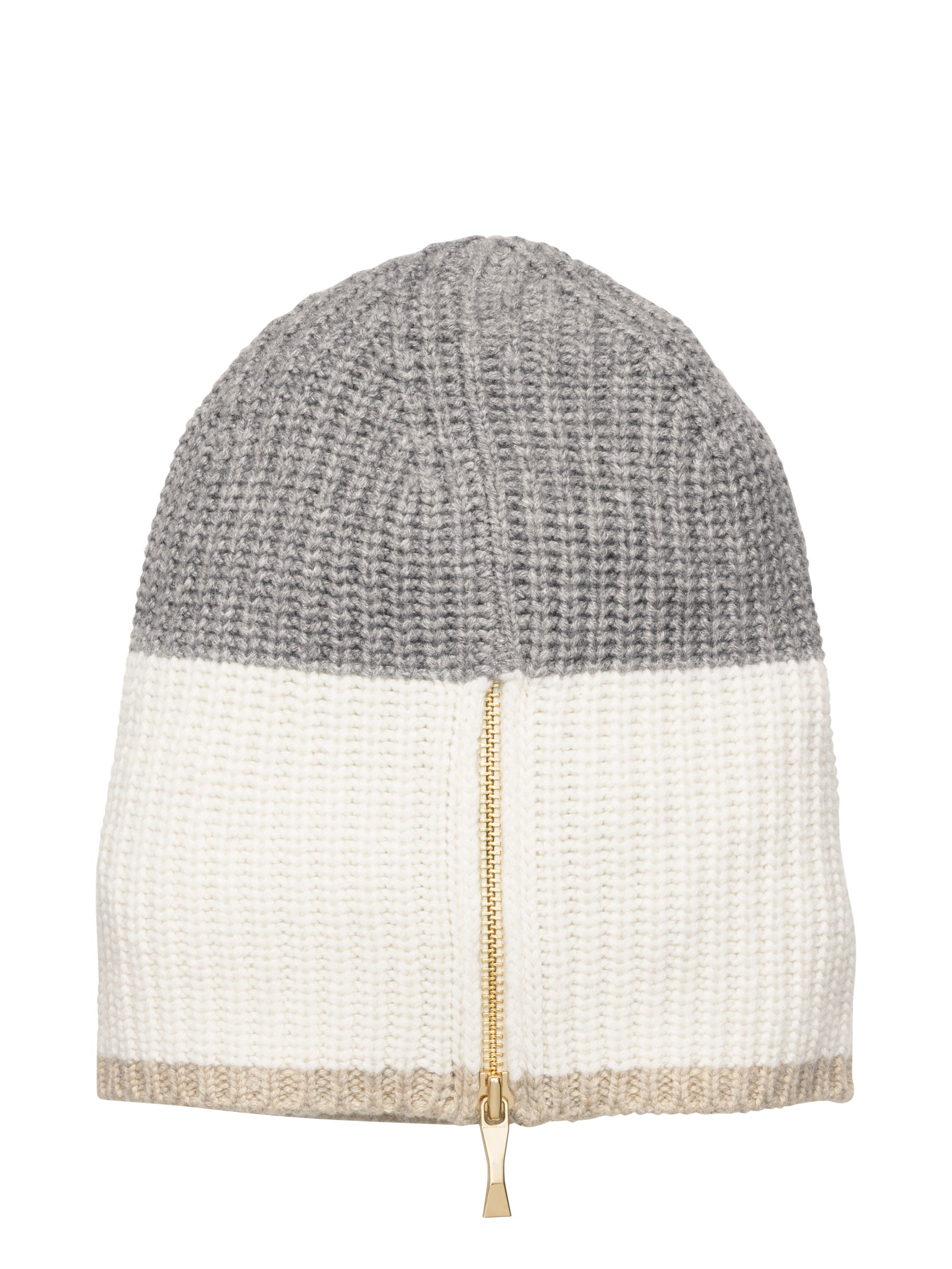 3504b9256eb86 Kate Spade Zip Up Beanie in Natural - Lyst