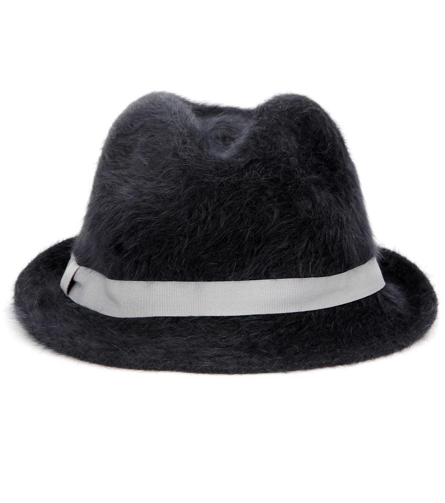 cc9ed60ab98 Lyst - Hat Attack Angora-blend Fedora in Black