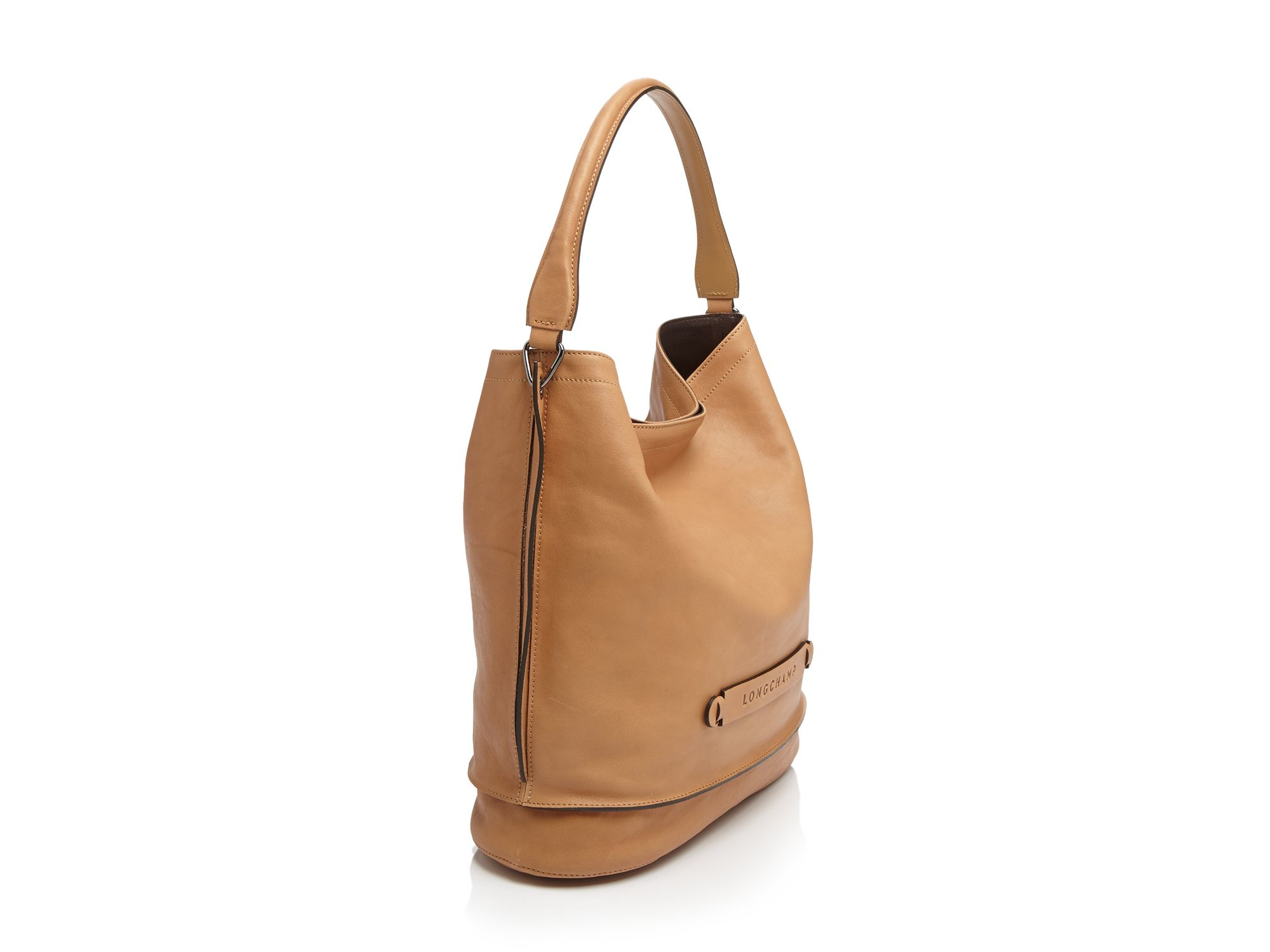Longchamp Leather 3d Hobo In Khaki Natural Lyst