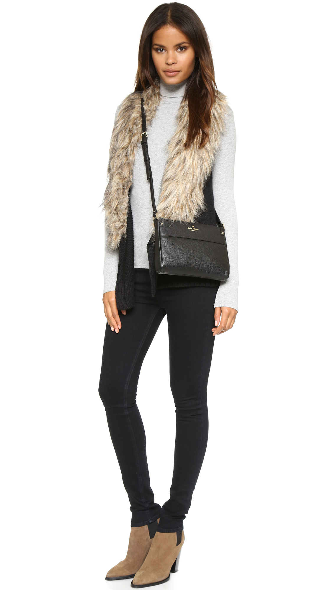 Kate Spade Leather Cooper Cross Body Bag - Black