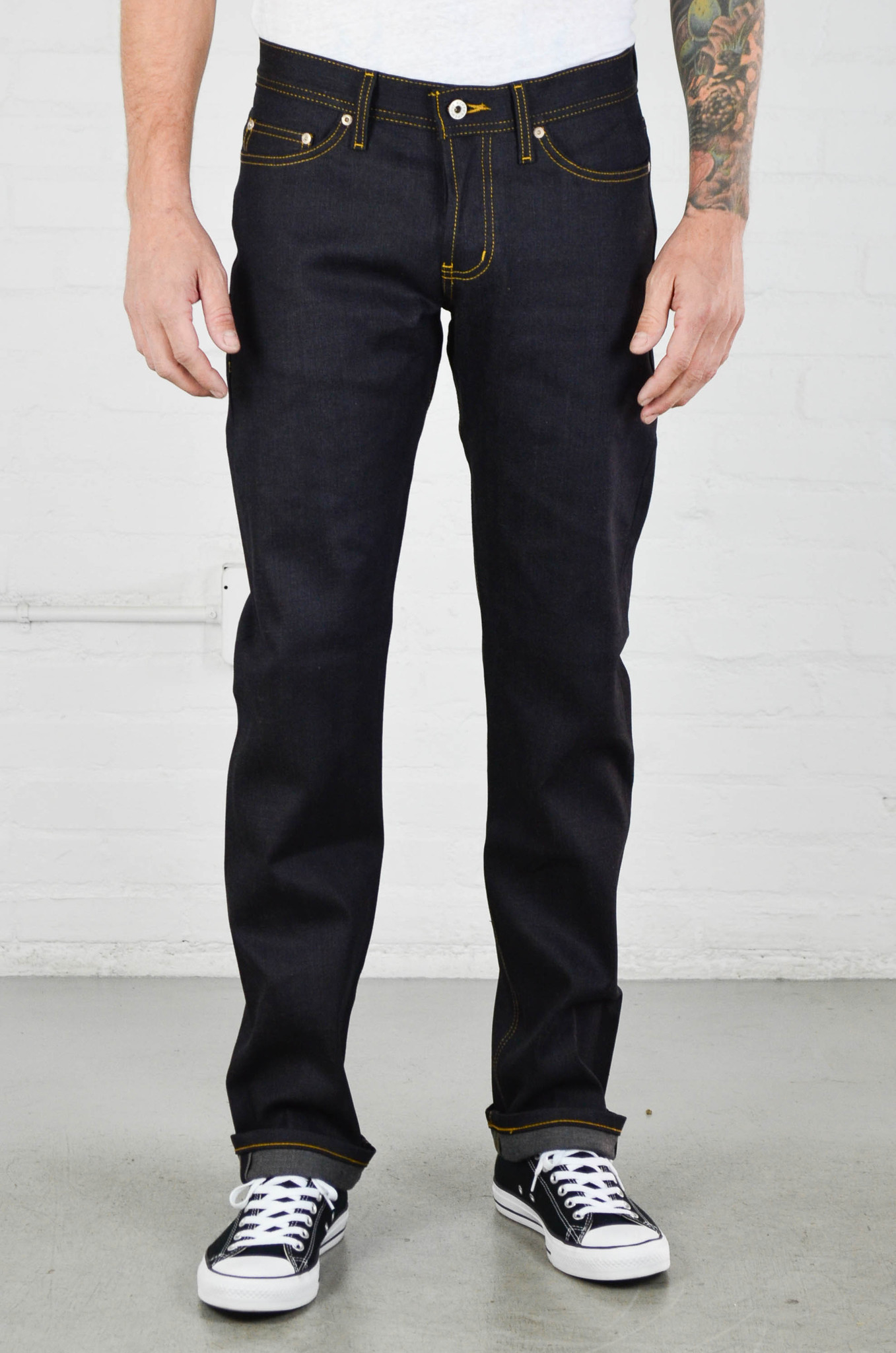 Naked  Famous Weird Guy Deep Indigo Stretch Selvedge In -3470