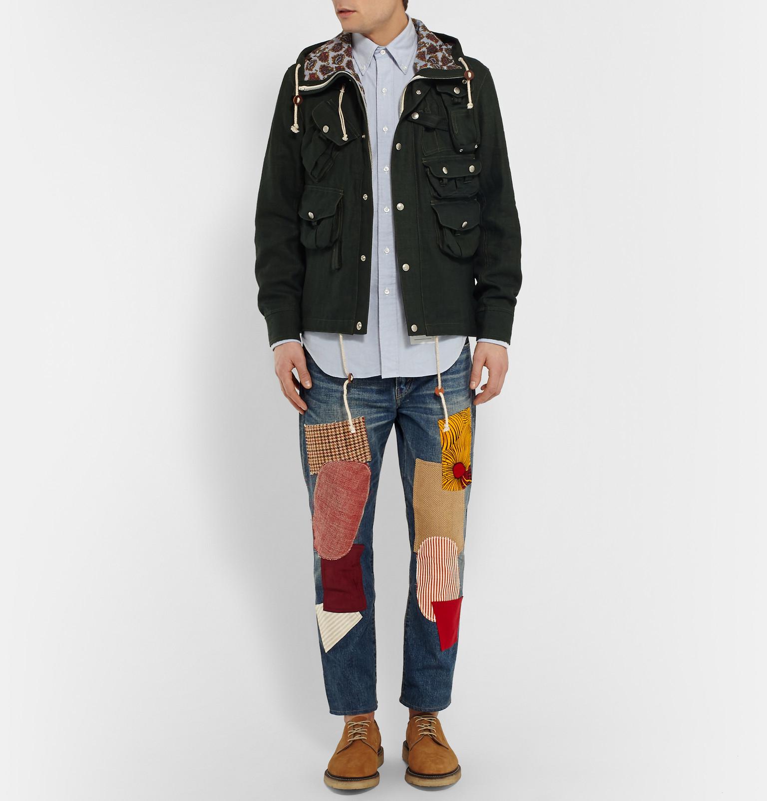 Junya Watanabe Patchwork Selvedge Denim Jeans in Indigo (Blue) for Men