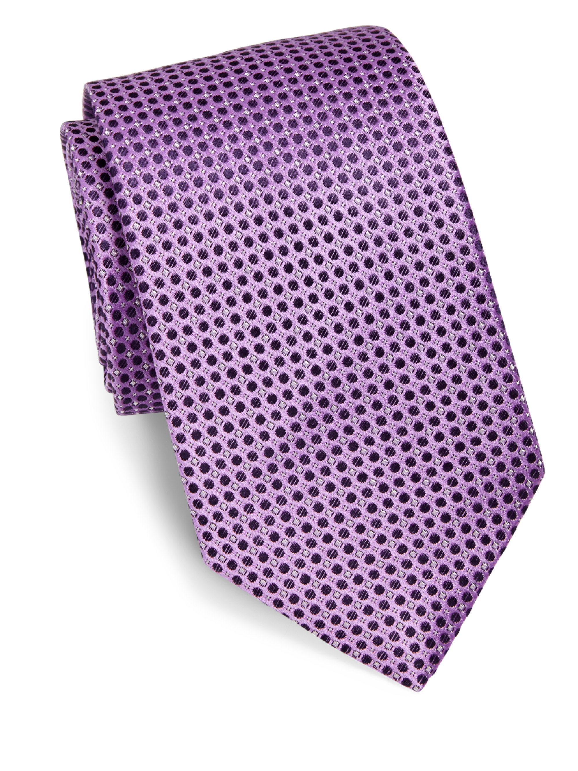 eton of sweden polka dot silk tie in purple for lyst