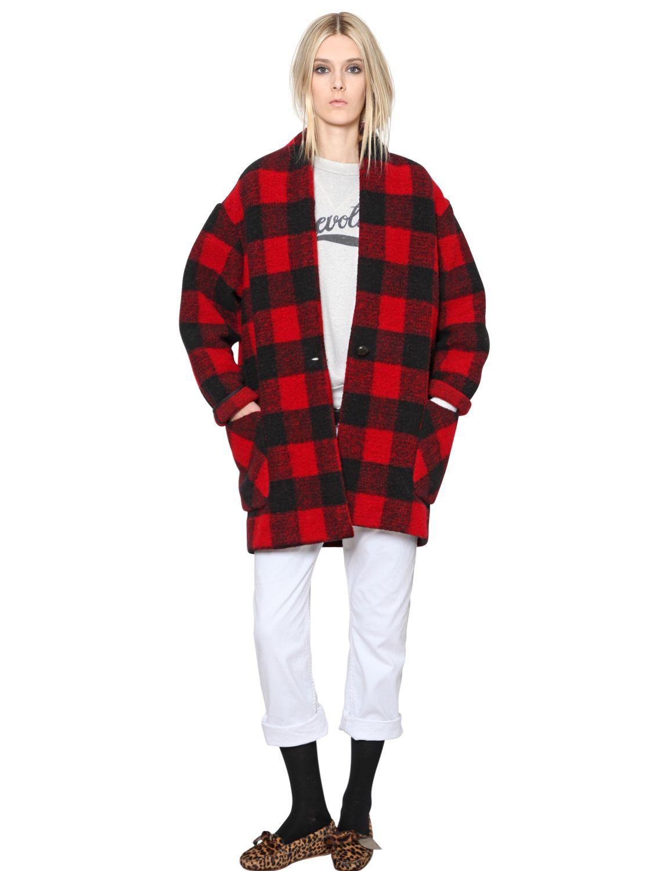 Plaid wool hat Isabel Marant 3wLBWA