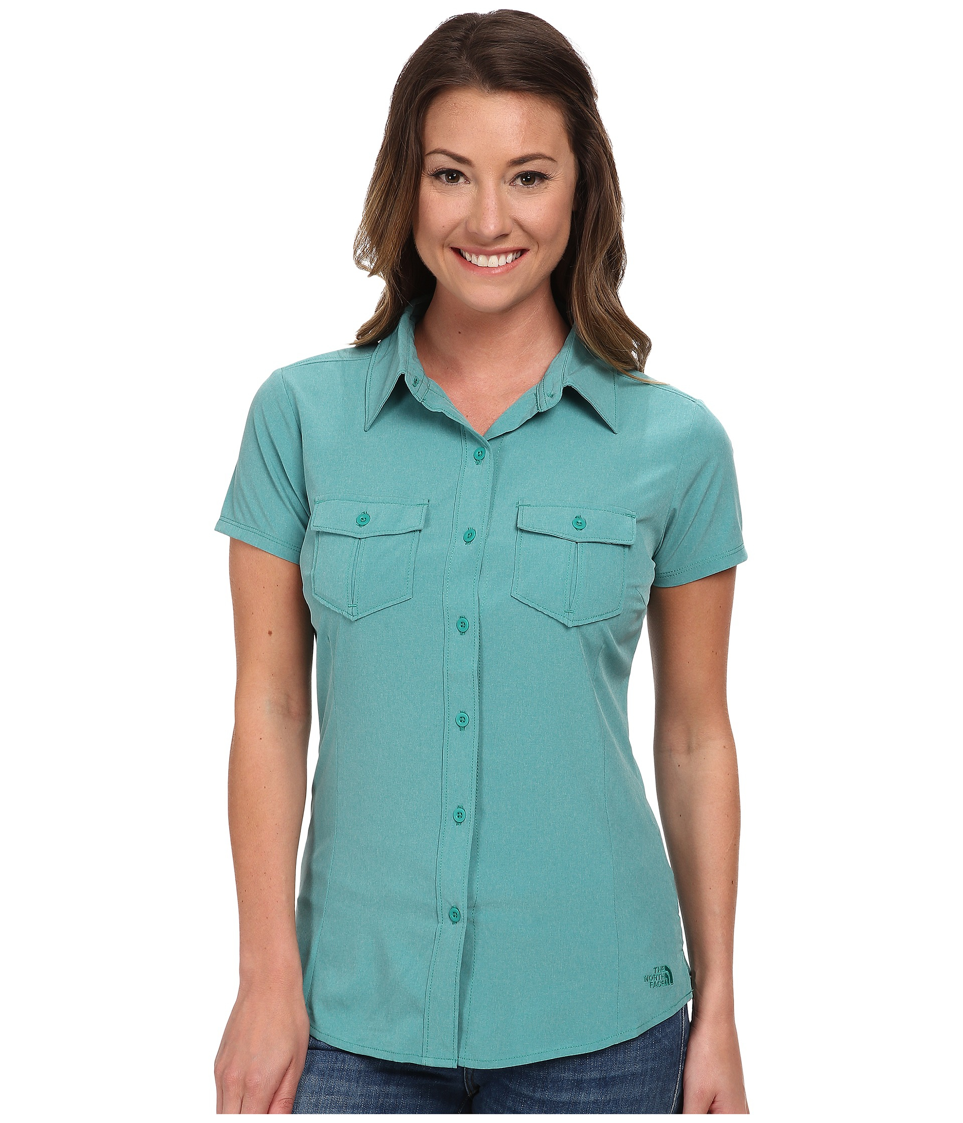 The north face short sleeve taggart woven shirt in blue lyst for The north face short sleeve shirt