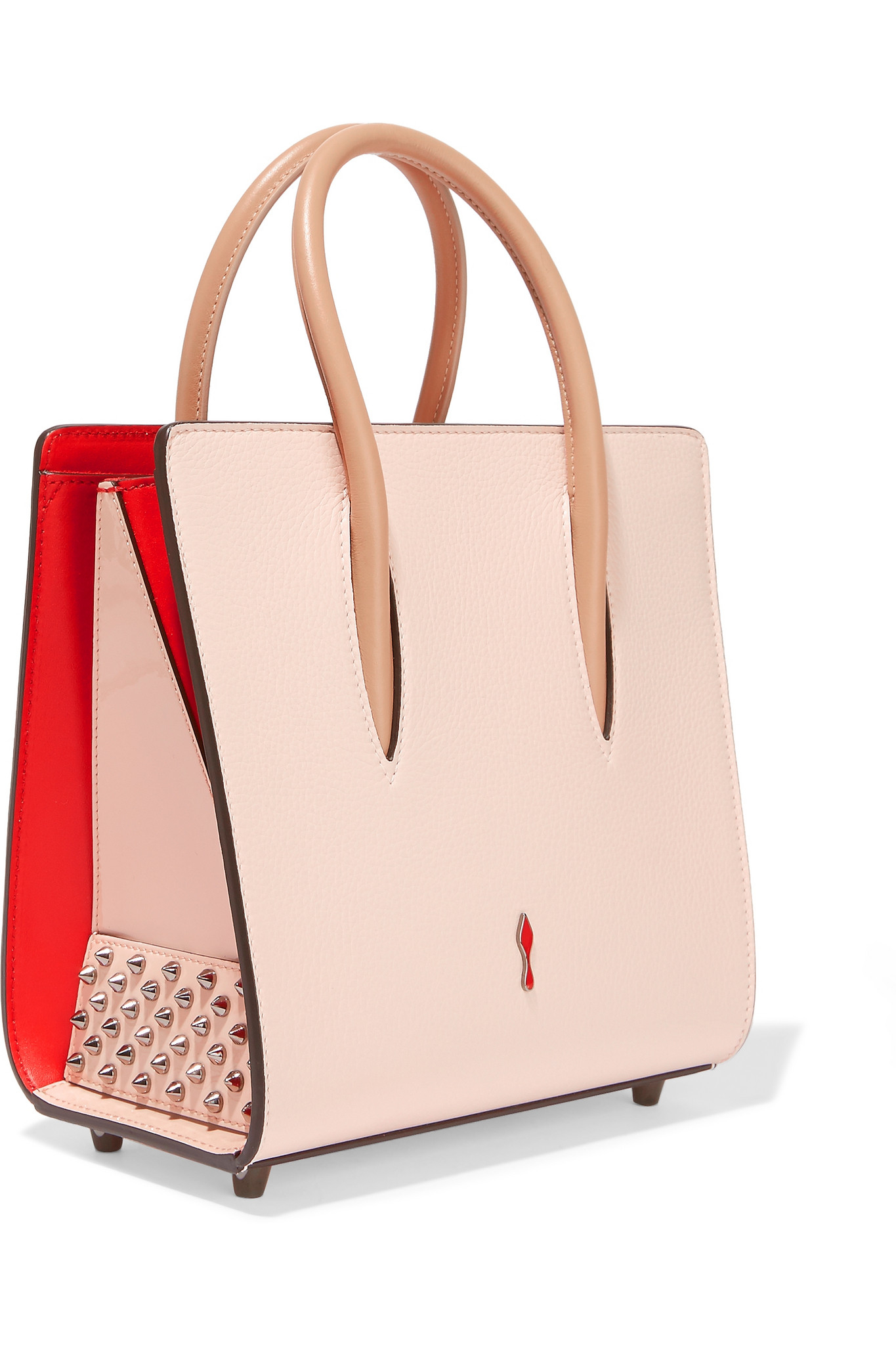 90863d8b5d7 Christian Louboutin Pink Paloma Small Spiked Leather Tote