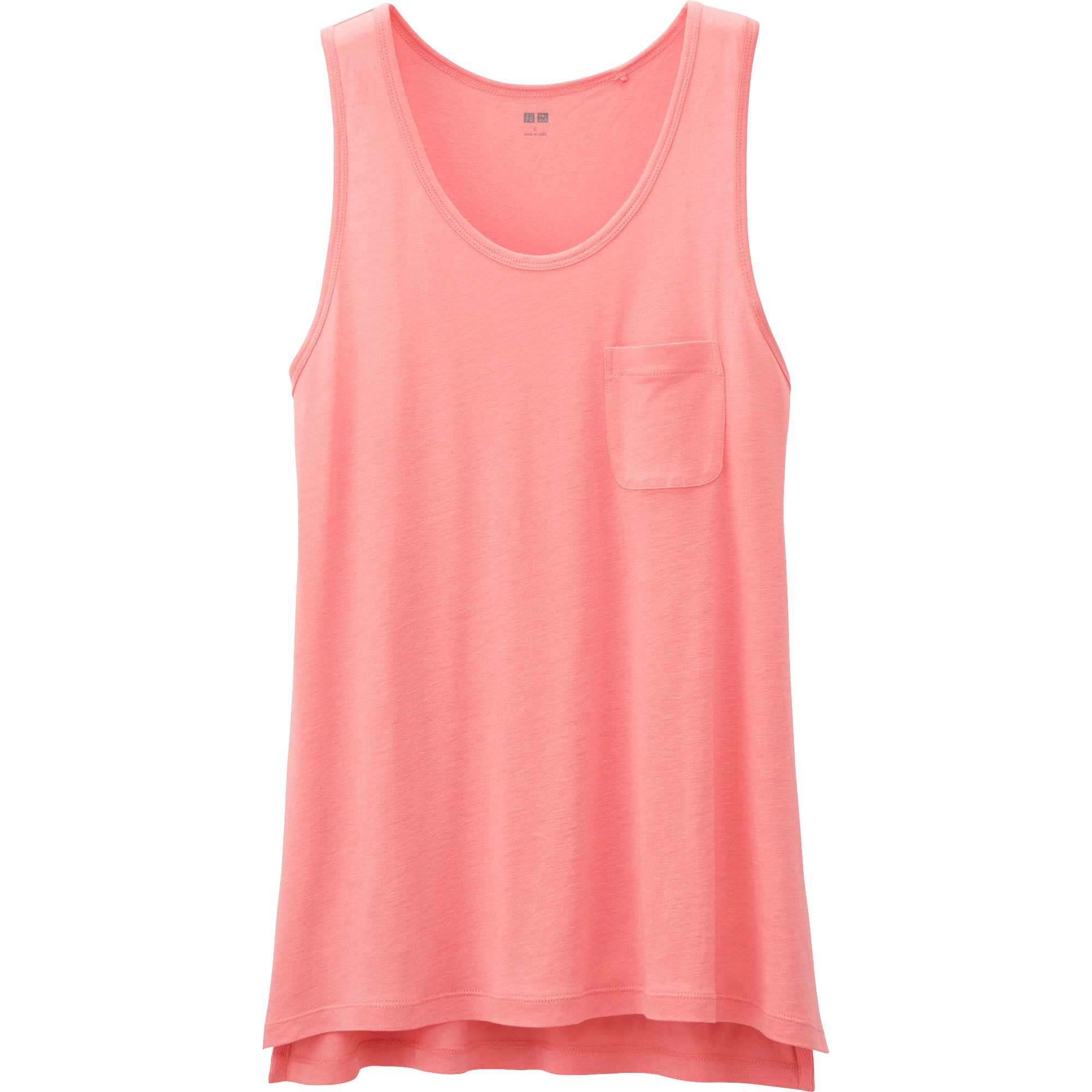 Uniqlo Womens Modal Linen Tank Top In Pink Save 47 Lyst
