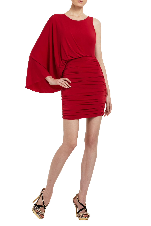 711900bcfe3 Lyst - BCBGMAXAZRIA Venus Draped Dress in Red