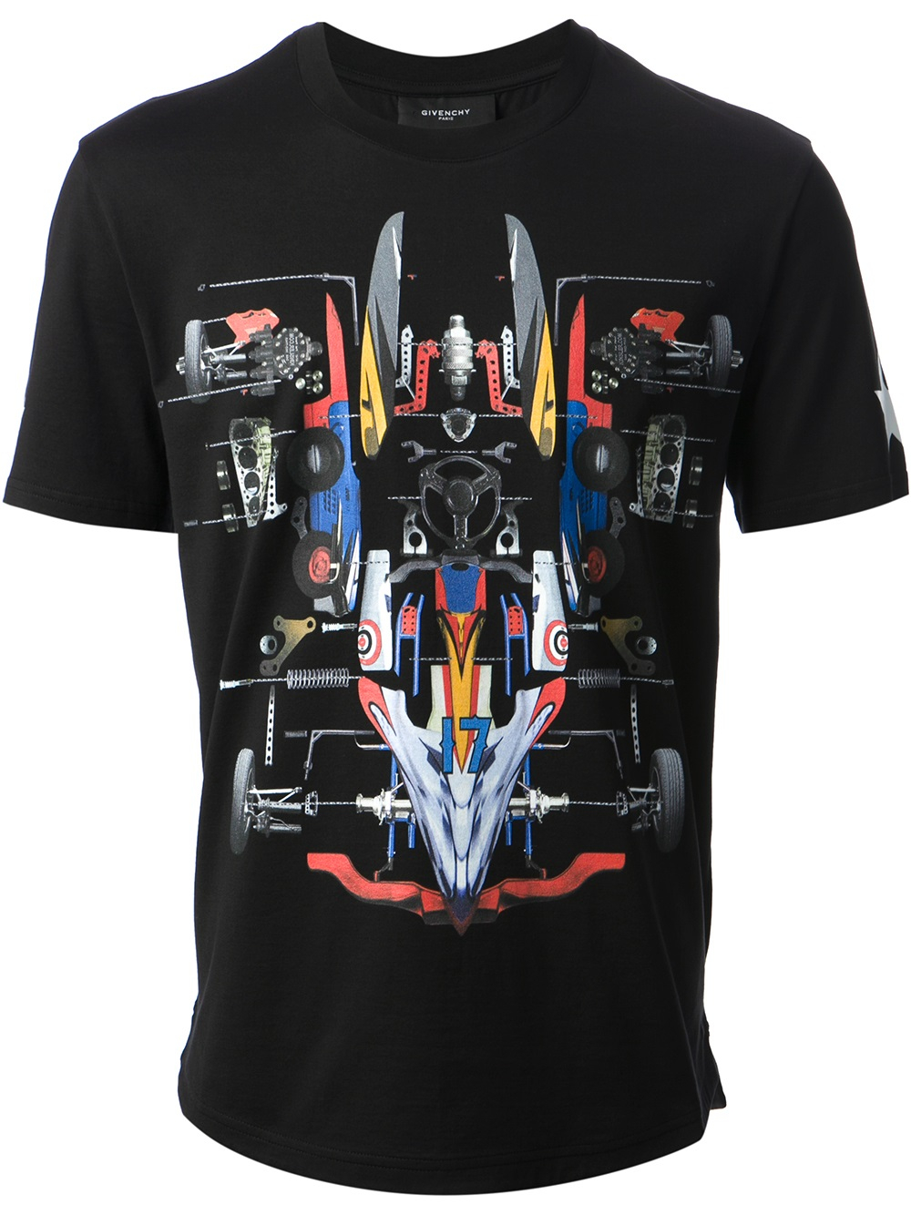 Lyst Givenchy Graphic Print Tshirt In Black For Men