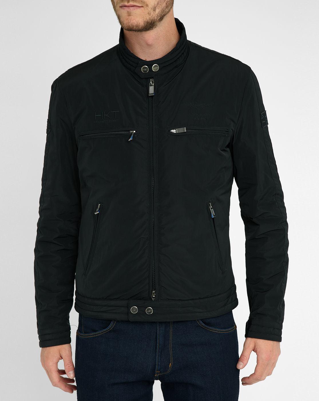 hackett black aston martin jacket in black for men lyst. Black Bedroom Furniture Sets. Home Design Ideas
