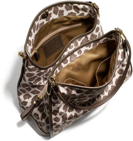 Madison Phoebe Shoulder Bag In Ocelot Print Fabric 120