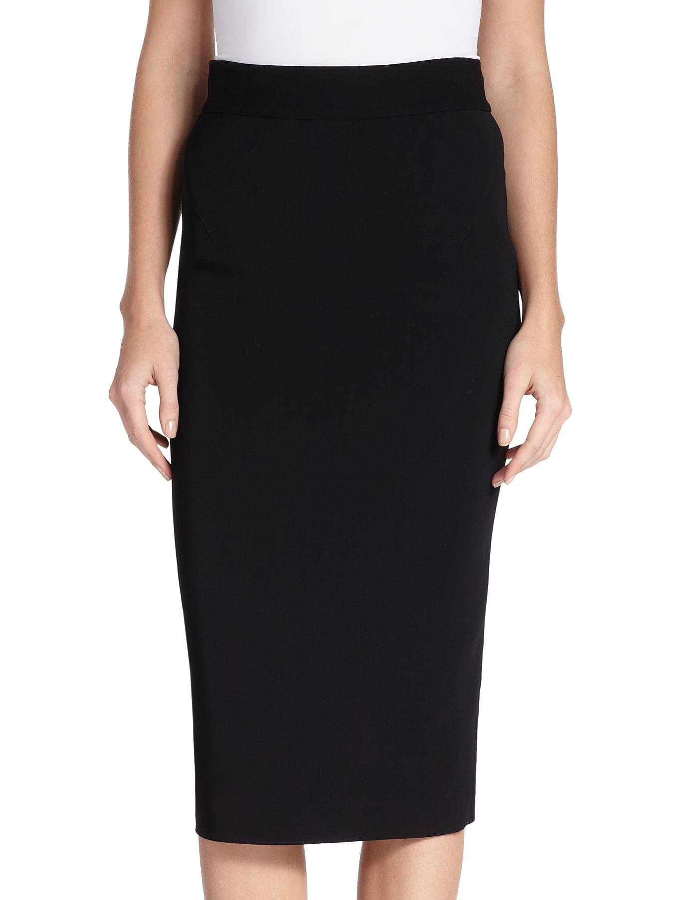 raoul stretch jersey pencil skirt in black lyst