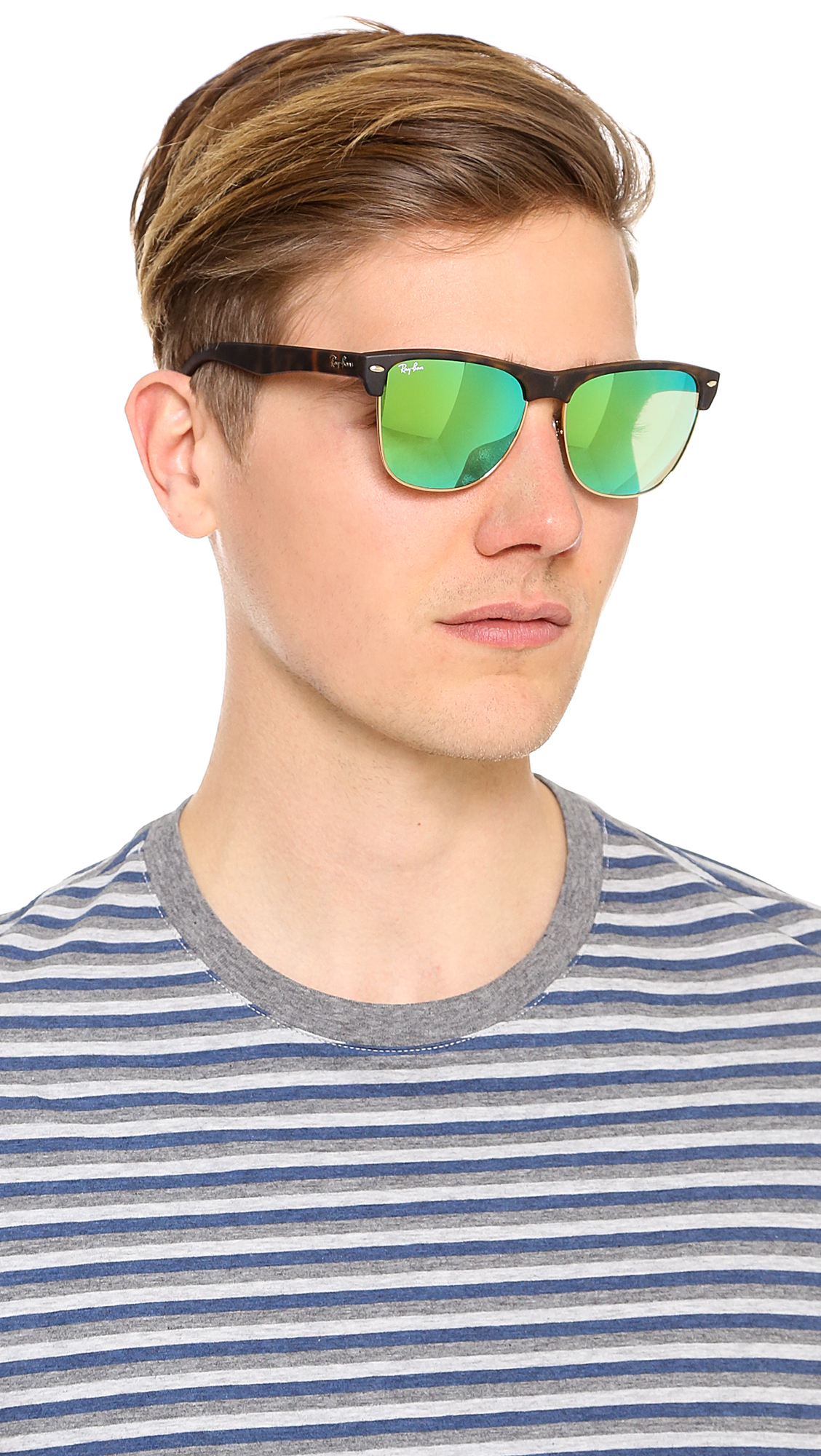 ray ban mirrored clubmaster sunglasses  gallery. previously sold at: east dane · men's mirrored sunglasses men's ray ban clubmaster