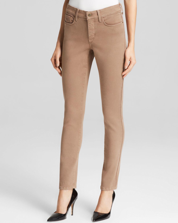 Nydj brown skinny jeans