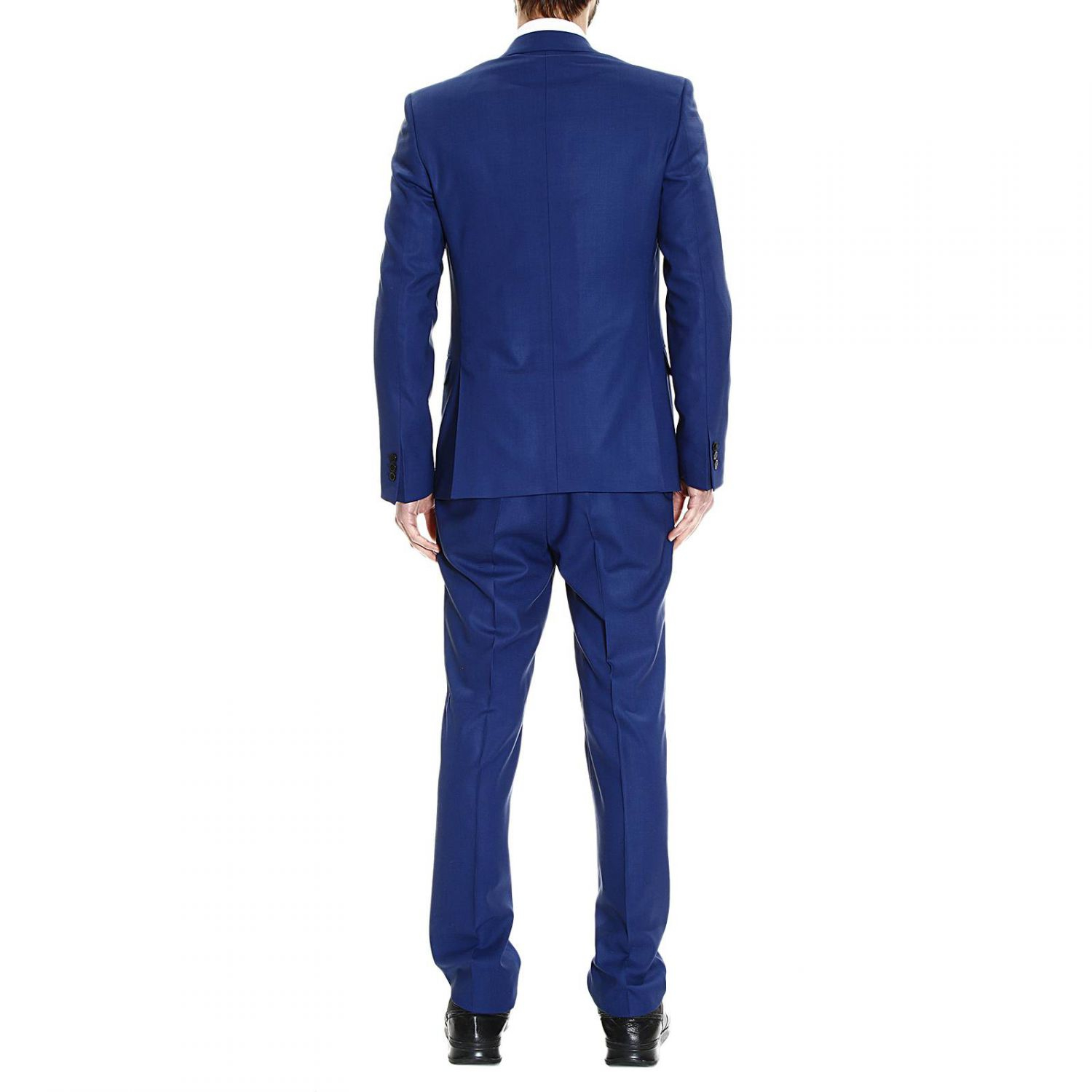 Versace Suit Dress Trend 2 Buttons Wool Pinstripe In Blue