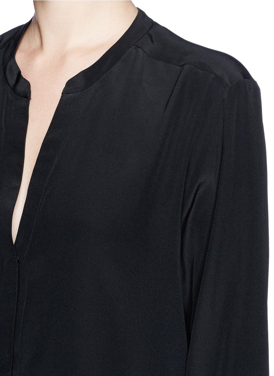 ae5647e293932 Lyst - Sandro Silk Crepe De Chine Blouse in Black