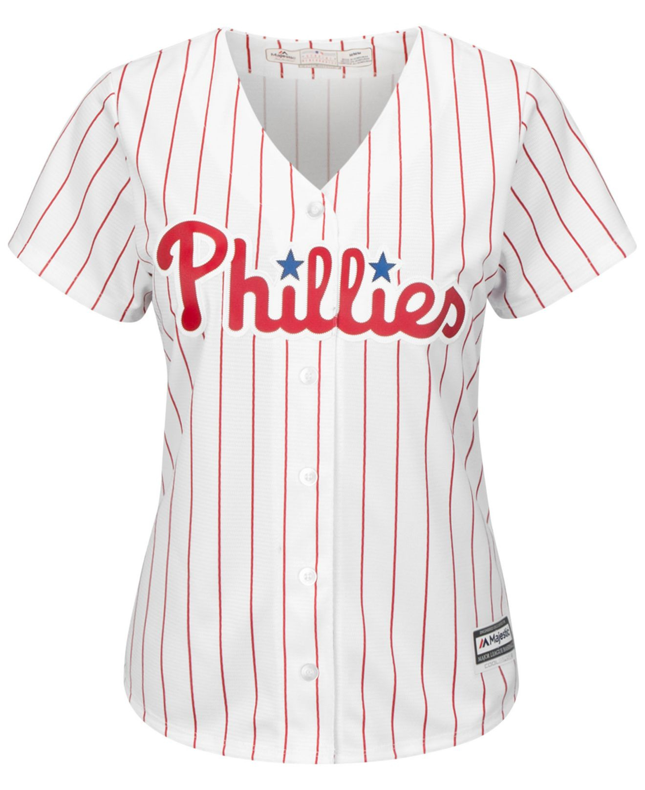 separation shoes 01339 9eef1 Majestic White Women's Chase Utley Philadelphia Phillies Replica Jersey