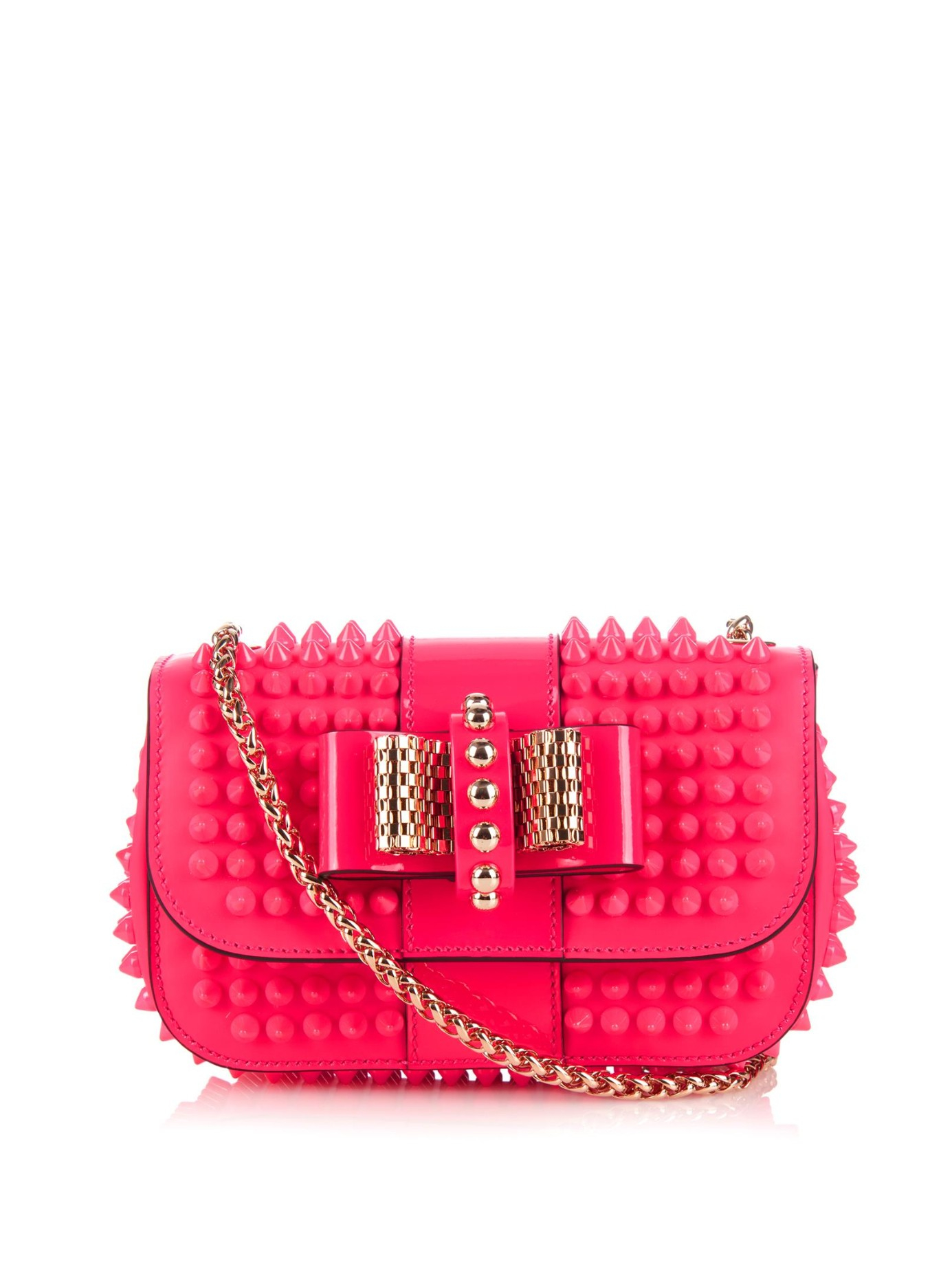 Christian Louboutin Pink Sweety Charity Mini Leather Shoulder Bag
