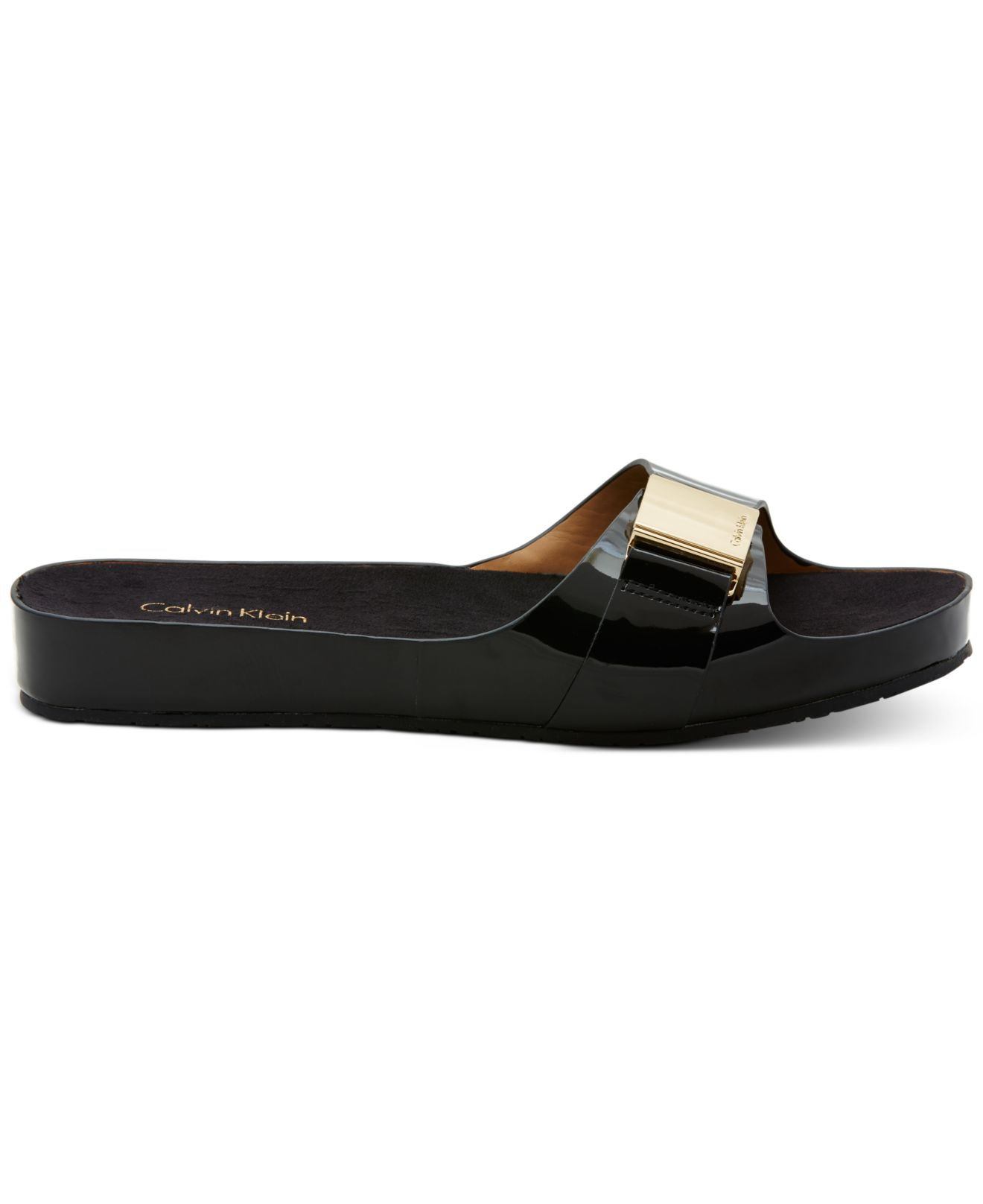 7131b61facaffe calvin klein black sandals calvin klein s marlie sandals in black lyst