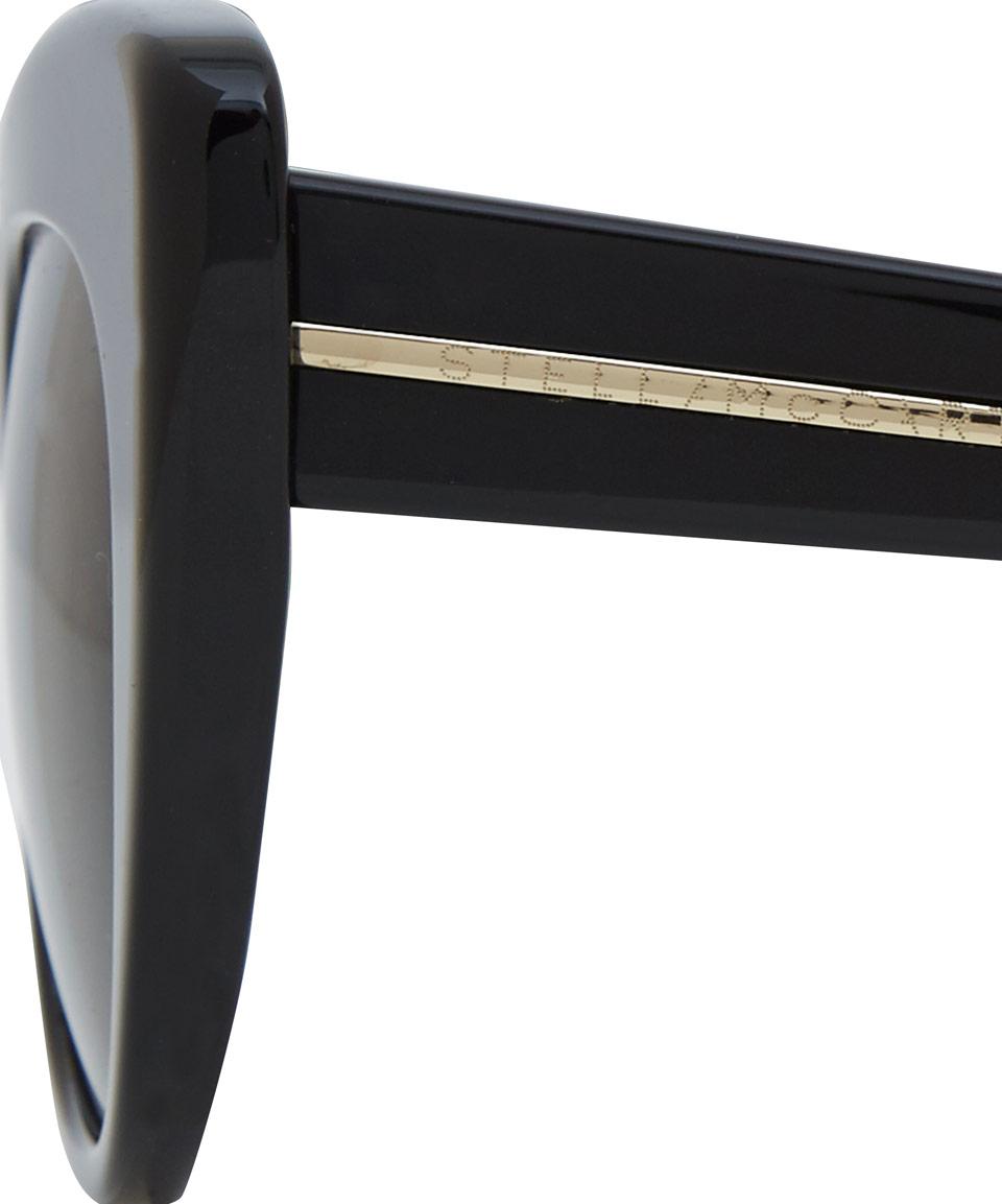 Stella McCartney Black Exaggerated Cat Eye Sunglasses