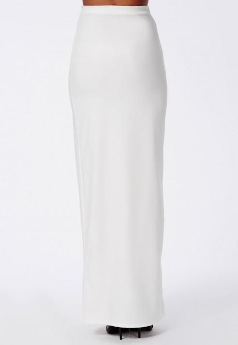 White Long Pencil Skirt - Dress Ala