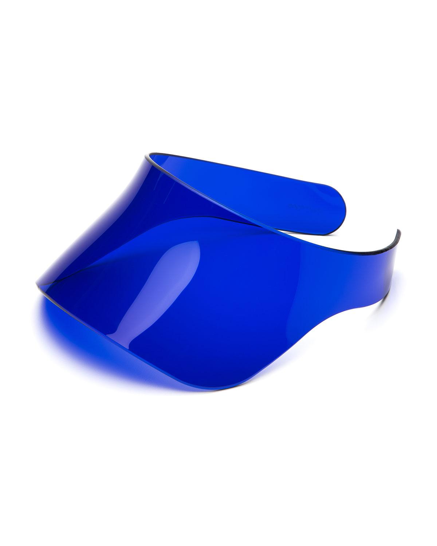 Lyst - Courreges Fluorescent Plexiglass Over-eye Sun Visor in Blue 7f7b4ac4d5d
