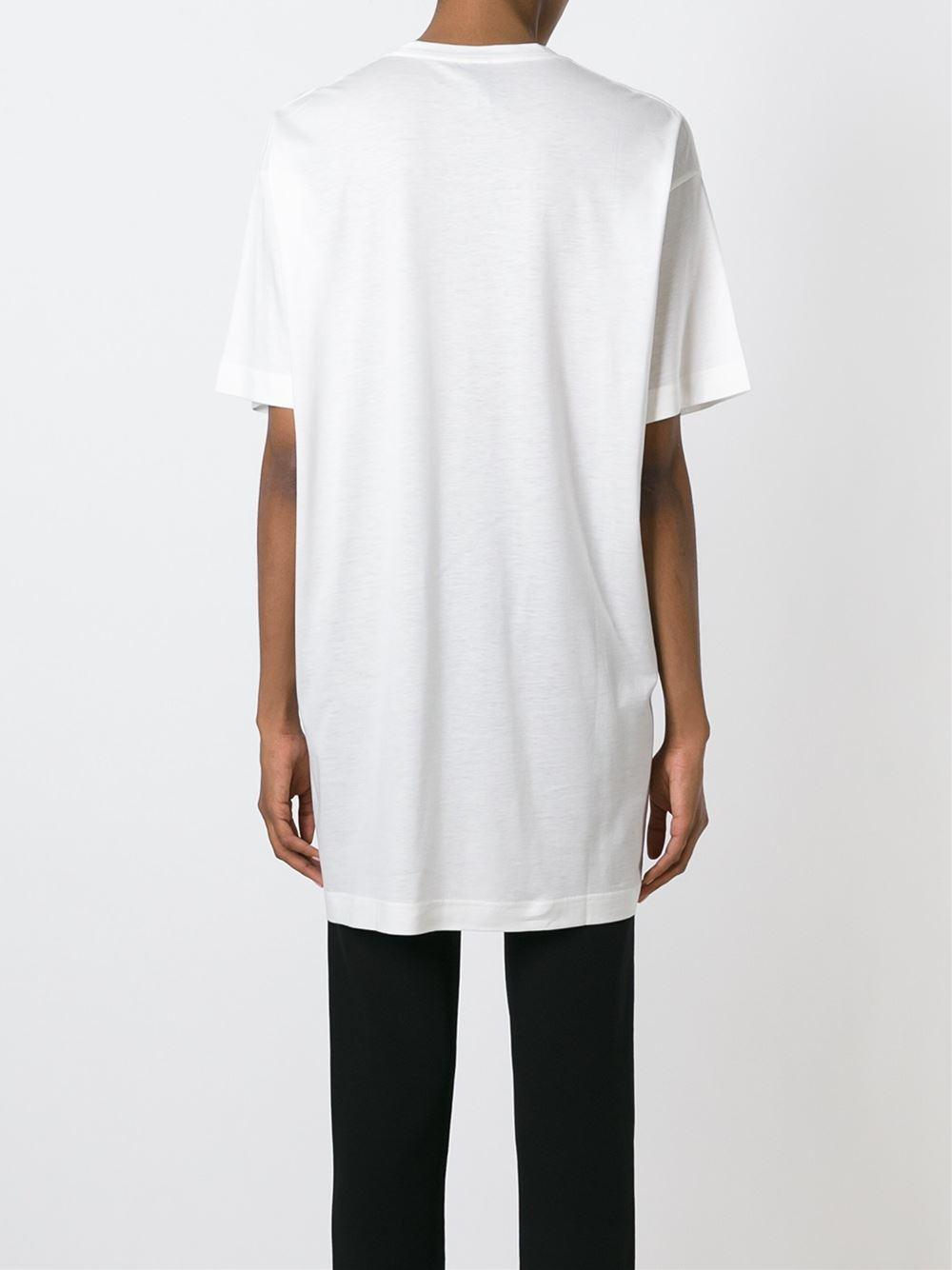 Miharayasuhiro Foil Flower Print T Shirt In White Lyst