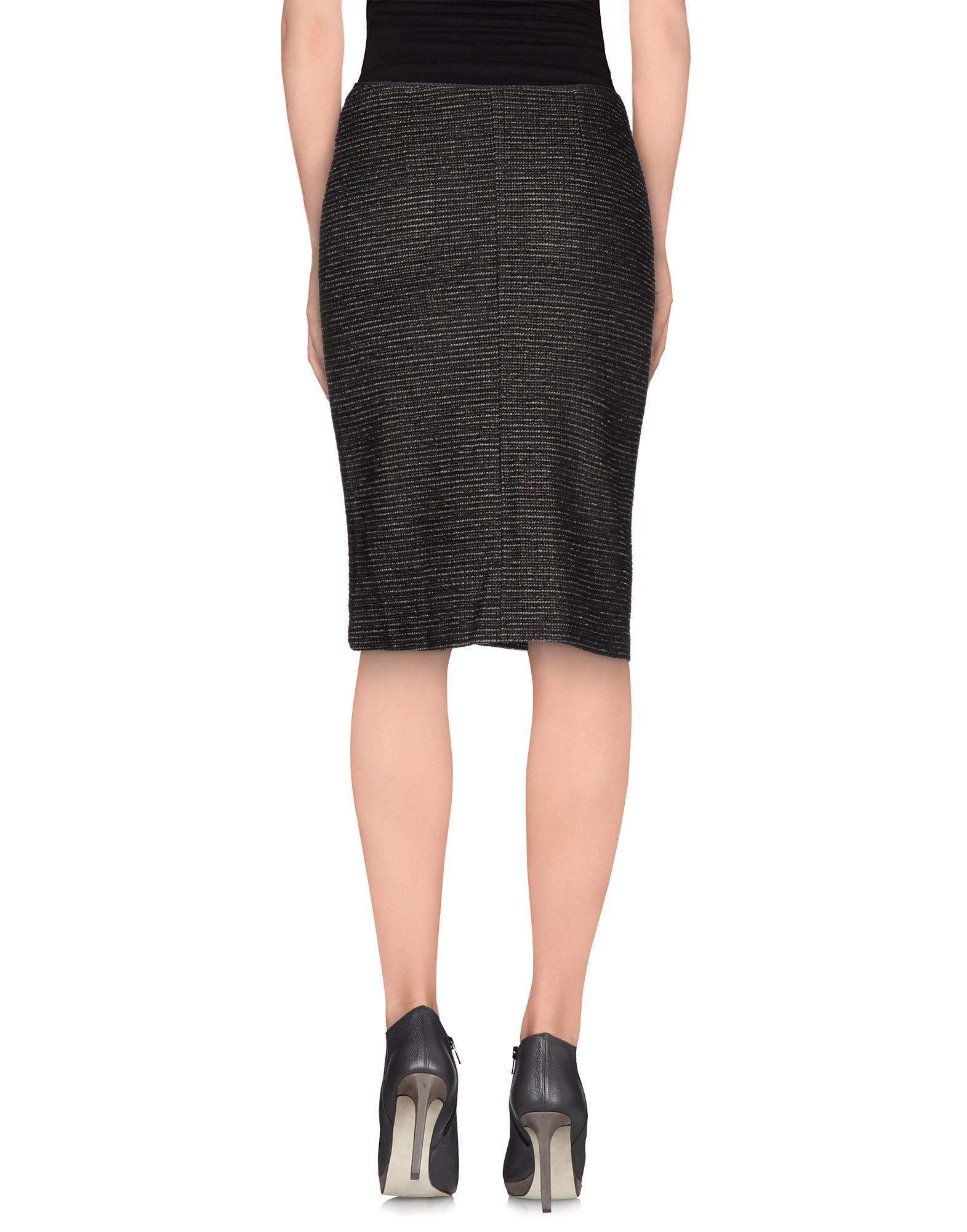 kooka 239 knee length skirt in black lyst