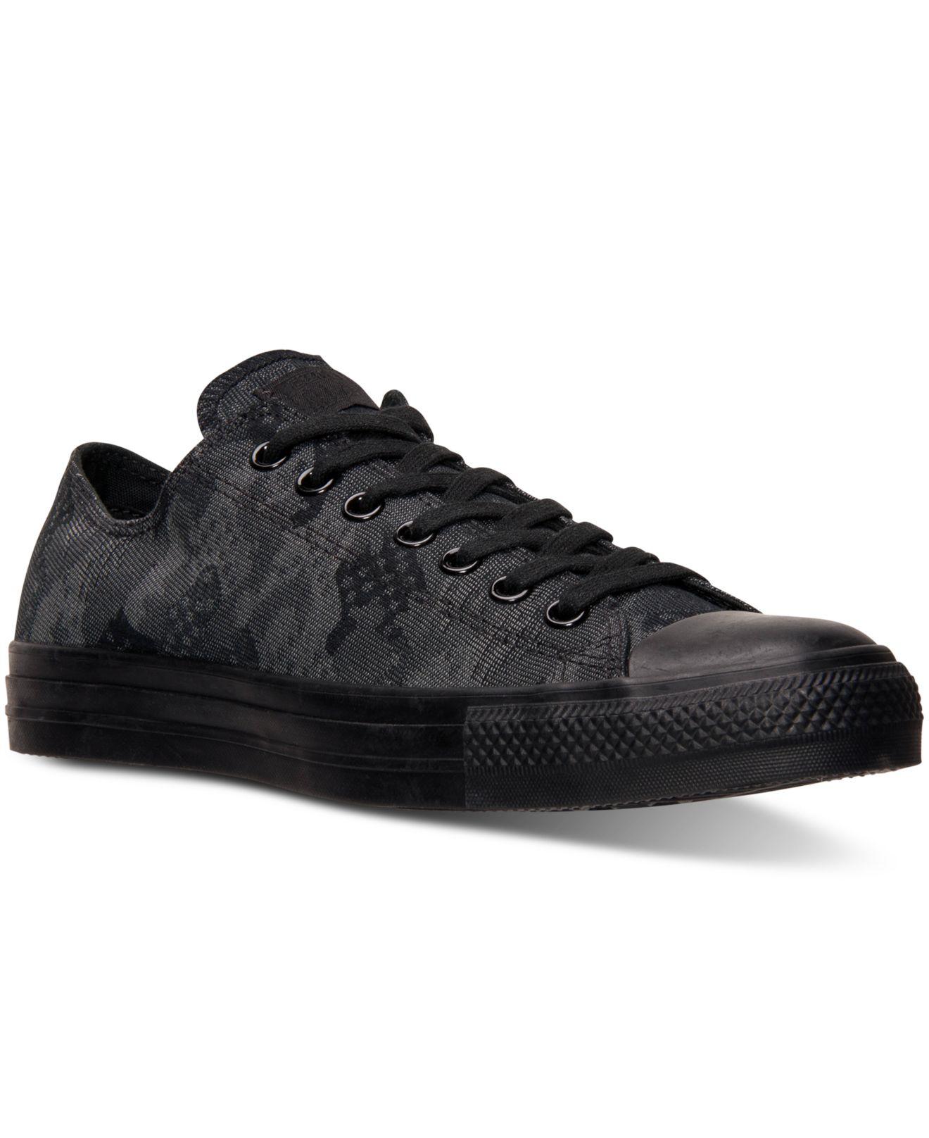 3739d6e40843 Lyst - Converse Men s Chuck Taylor Ox Camo Jacquard Casual Sneakers ...