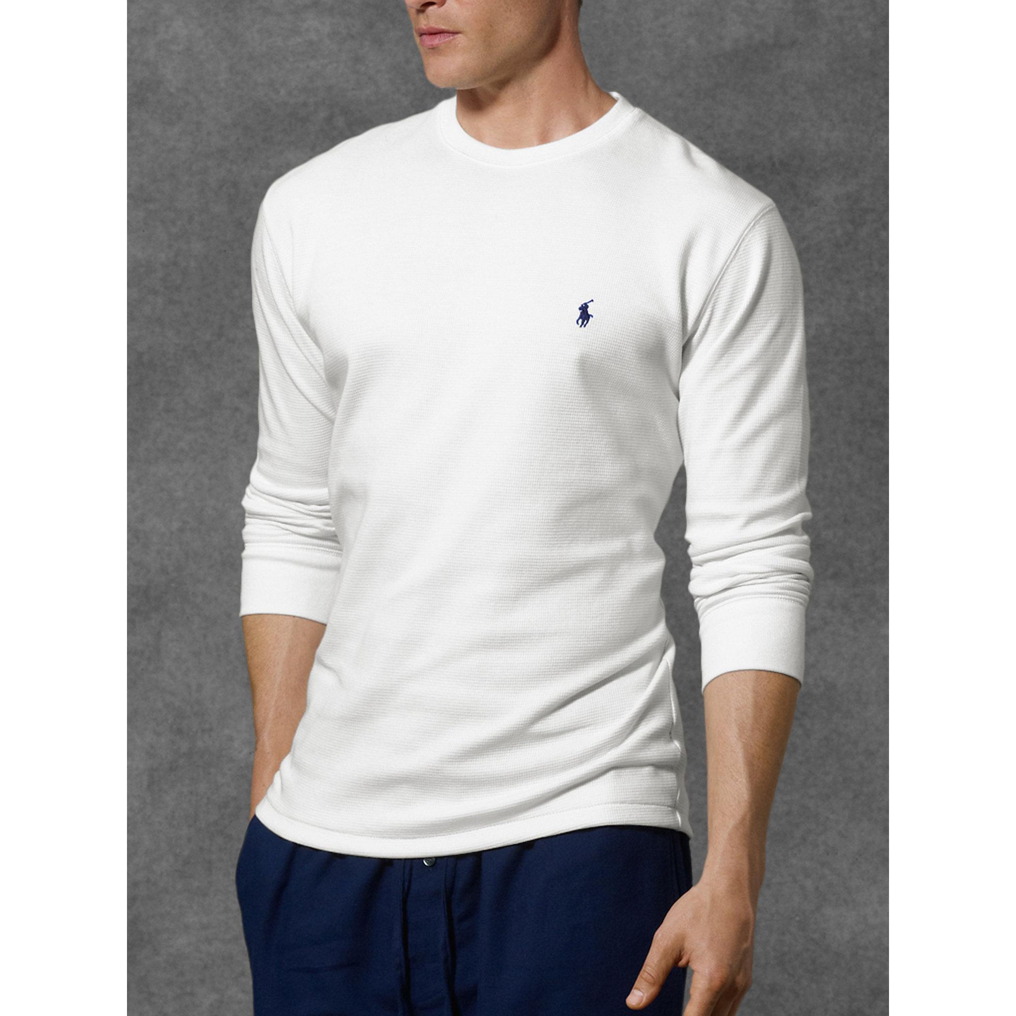 dbe3cf62 ... Beige Waffle Knit Sweatshirt: Polo Ralph Lauren Waffle-knit Crewneck  Thermal In White
