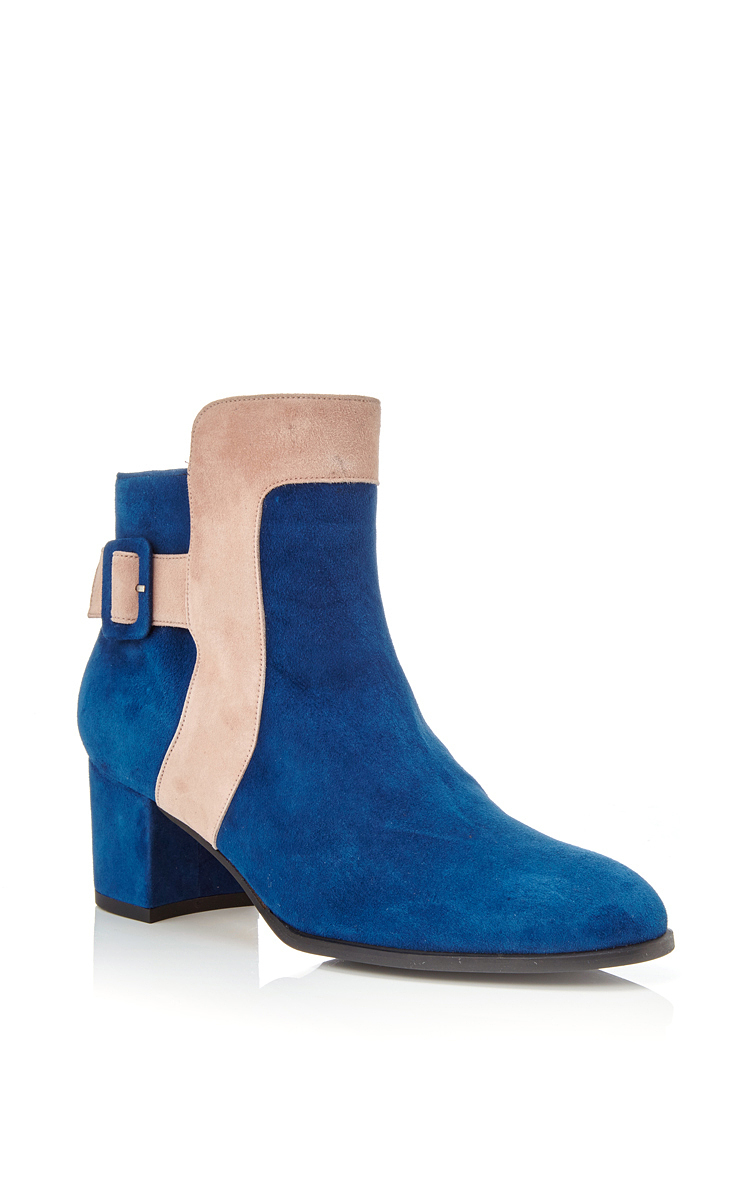 40b928e4489a9 Lyst - Carmelinas M'o Exclusive Alex 55 Ankle Boot In Marine Suede ...
