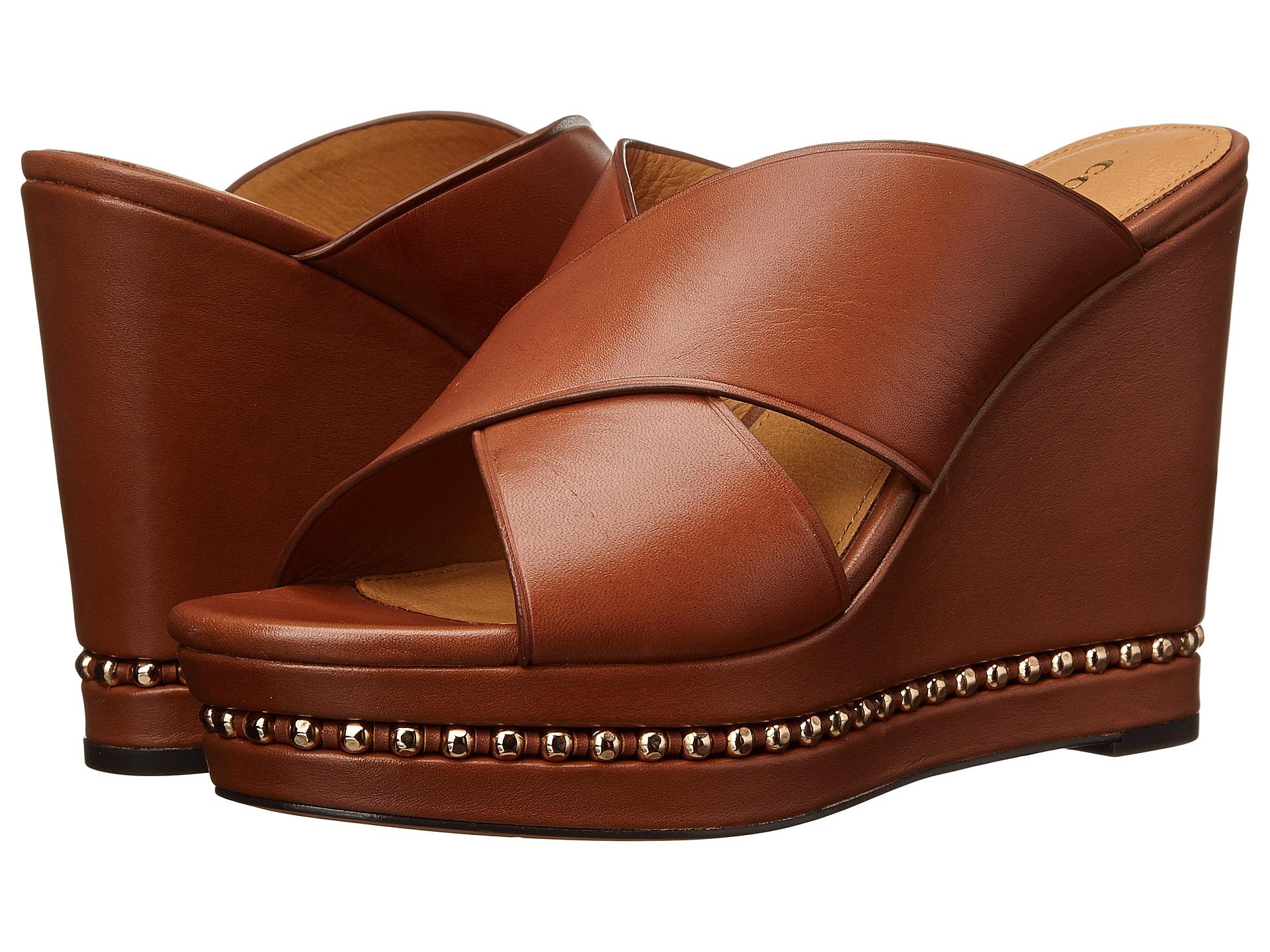 Womens Sandals COACH Emily Black Semi Matte Calf