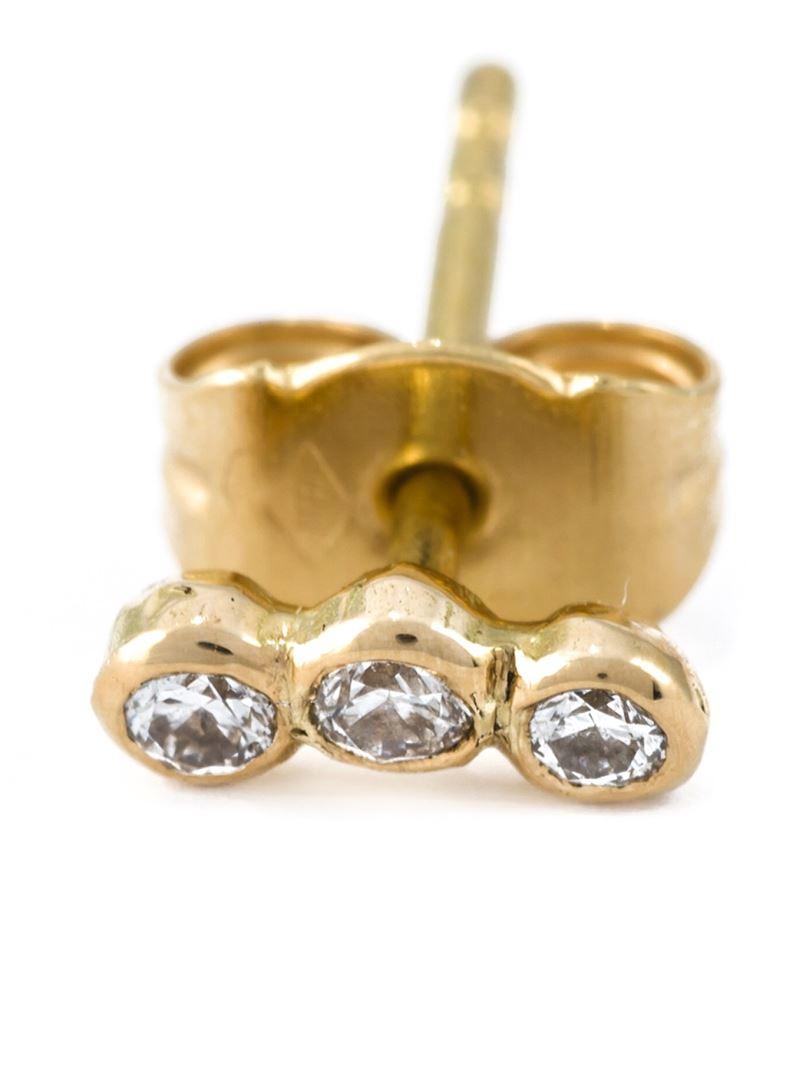 Wouters & Hendrix diamond stud earring - Metallic Q4dyERhY