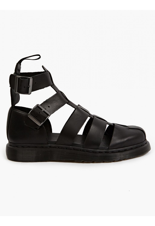 Dr Martens Men S Black Geraldo Ankle Strap Sandals In