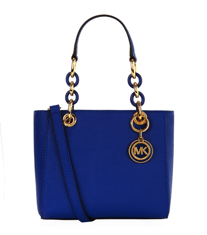 michael michael kors extra small cynthia satchel in blue lyst. Black Bedroom Furniture Sets. Home Design Ideas