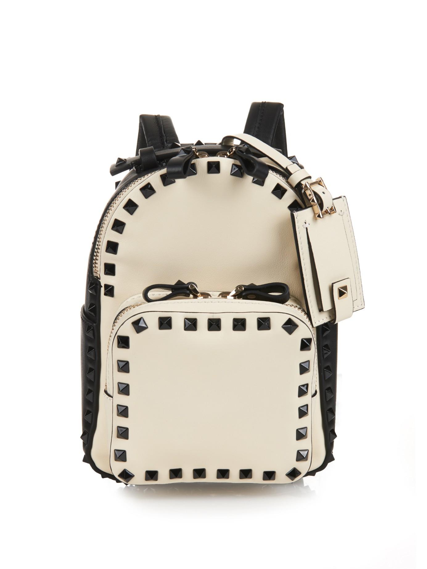 Rockstud Backpack in Black Calfskin Silk Valentino BFoCU9g