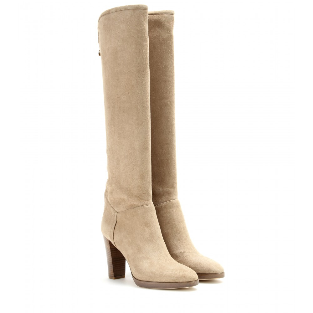 Loro Piana Sharmaine Suede Boots in Beige (Natural)