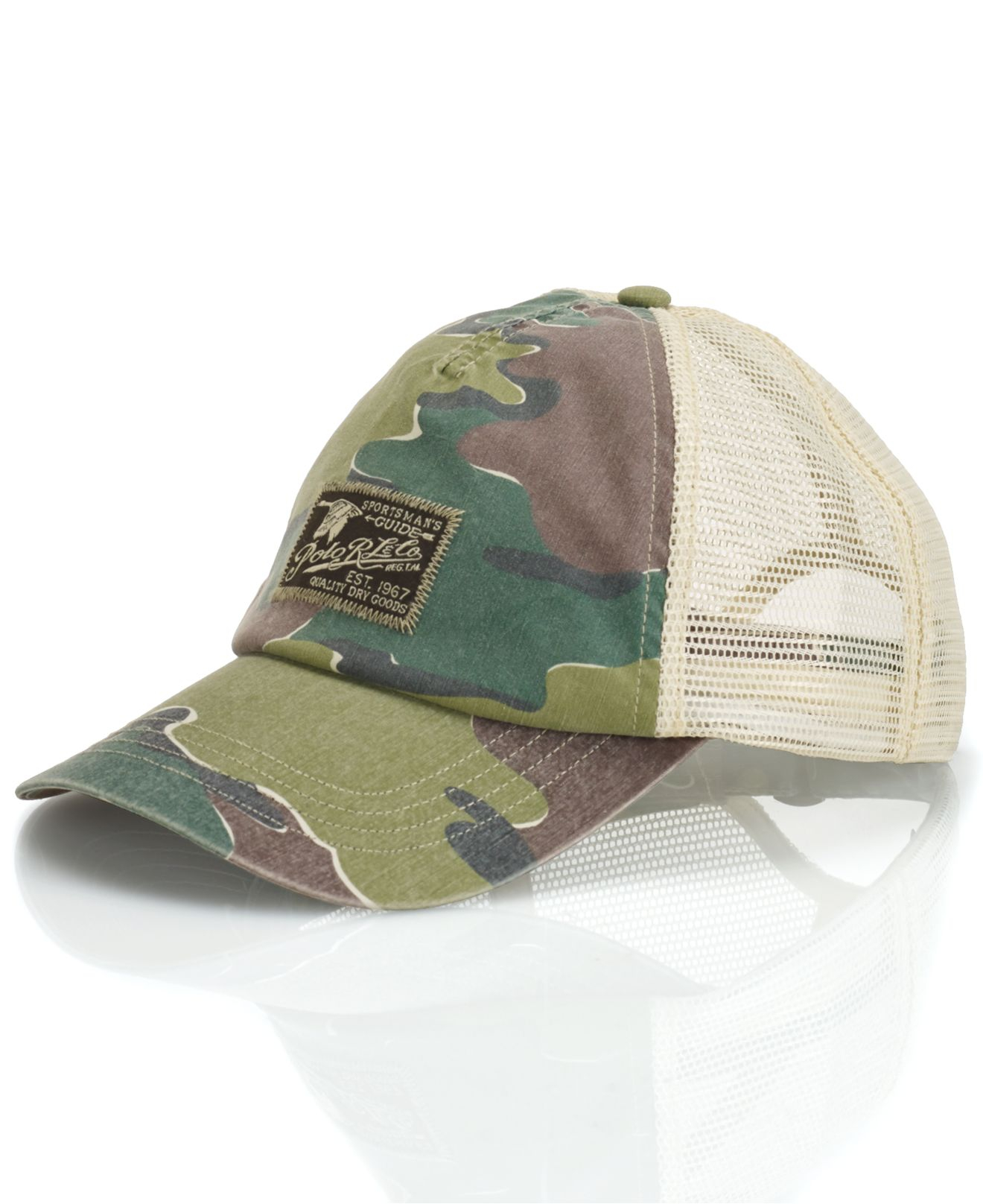 Lyst - Polo Ralph Lauren Camo Trucker Hat in Green for Men 9b70d886330