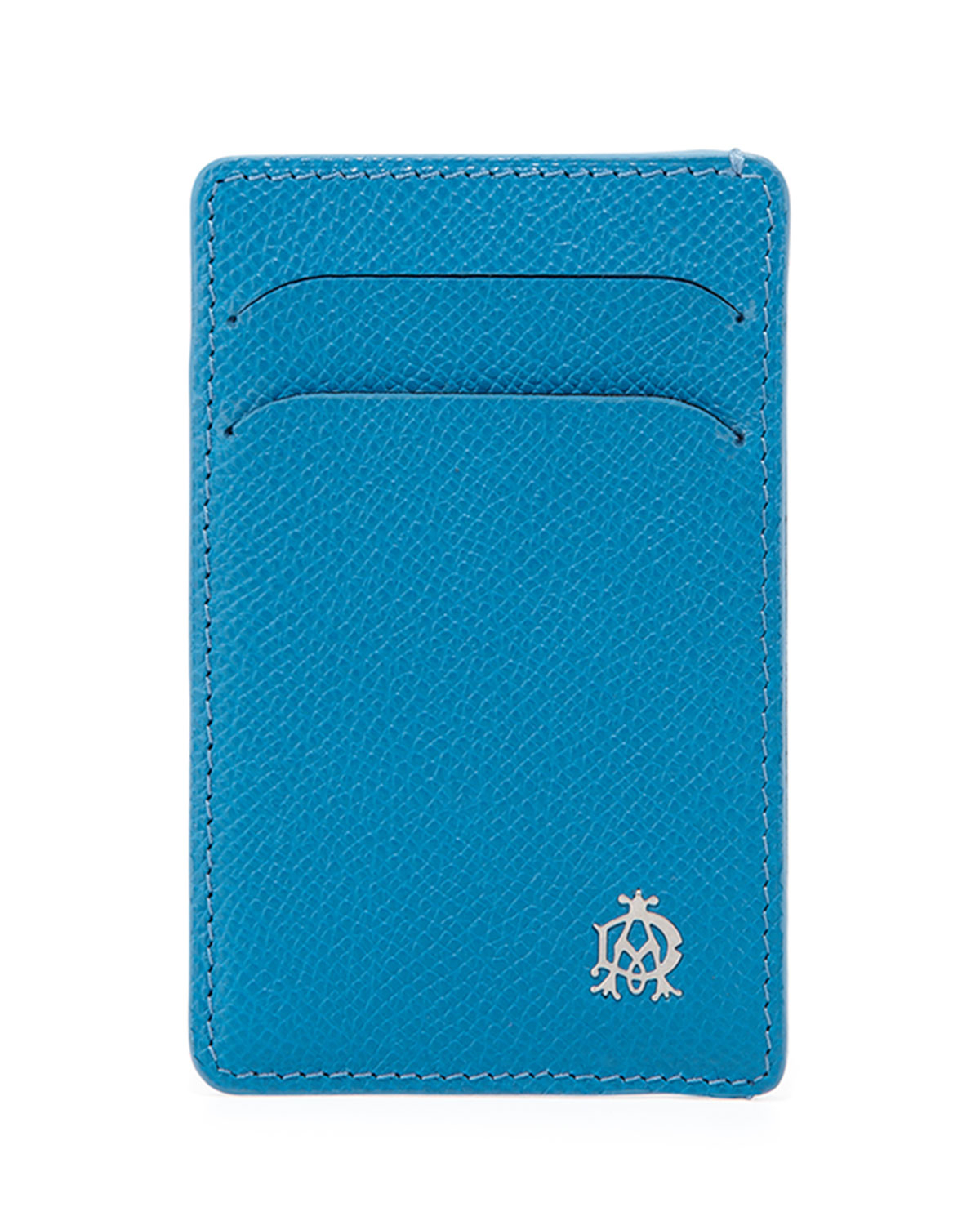 Lyst - Dunhill Bourdon Leather Card Case in Blue for Men