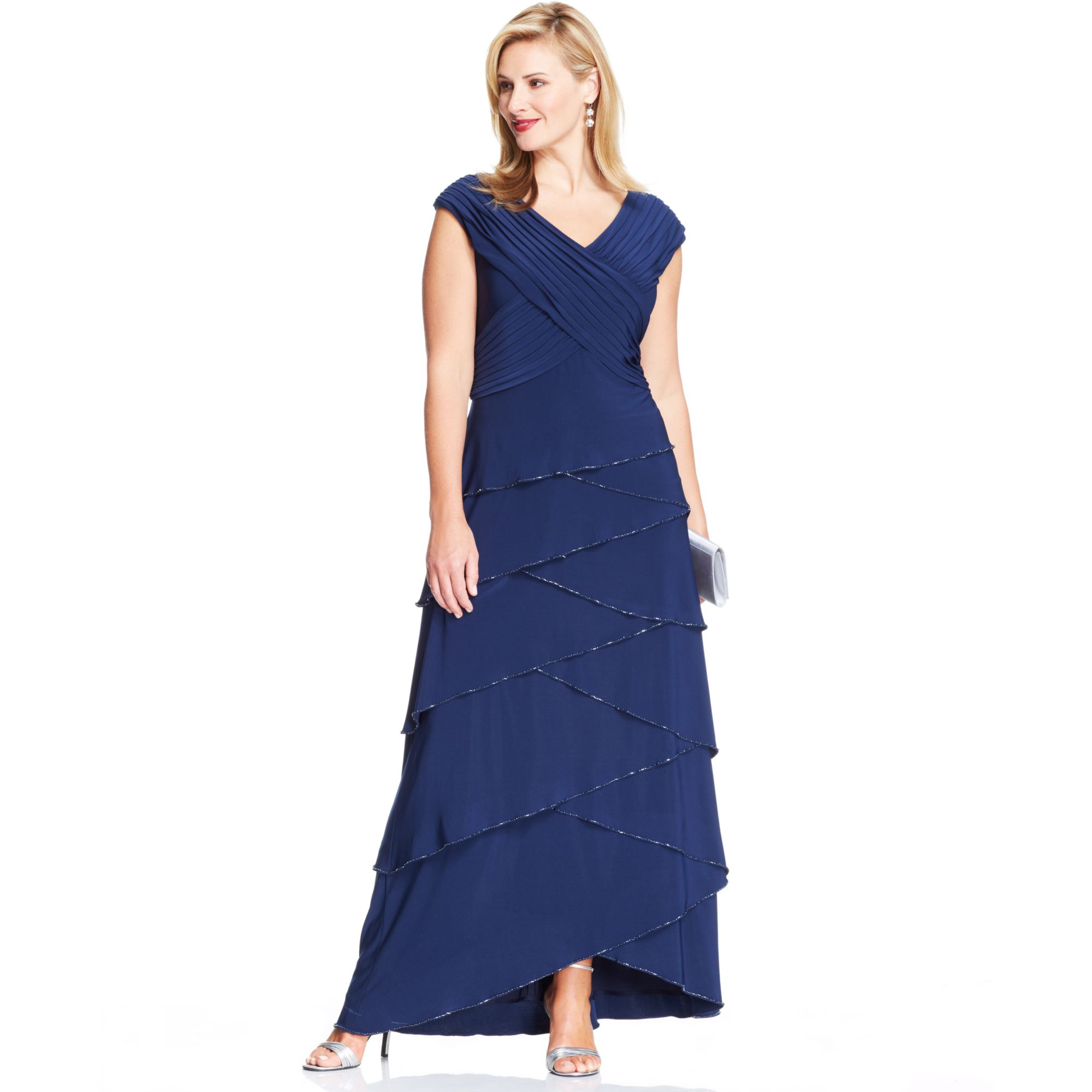 Patra Silk Plus Size Dresses 31