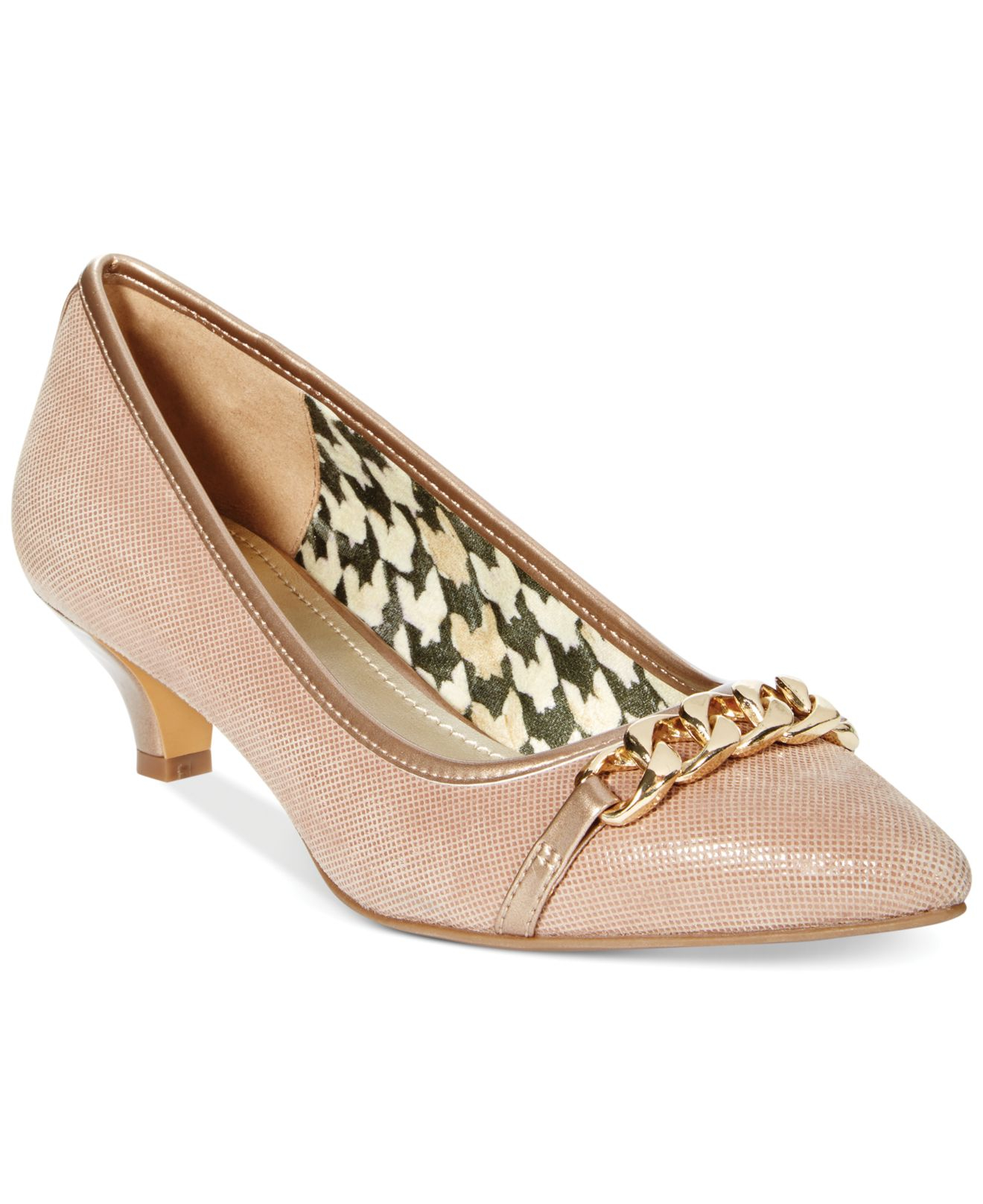 Anne klein Mikaela Kitten Heel Pumps- A Macy'S Exclusive in Brown ...