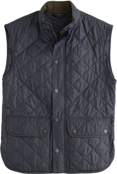 J Crew Barbour 174 Lowerdale Quilted Vest In Blue For Men