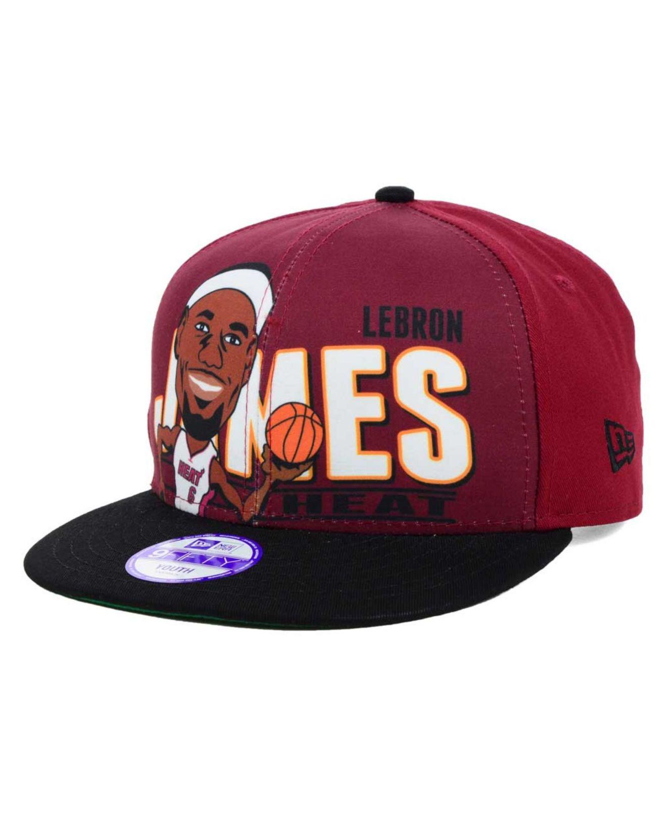 1a34fd25818 Lyst - KTZ Kids  Lebron James Miami Heat Player 9Fifty Snapback Cap ...