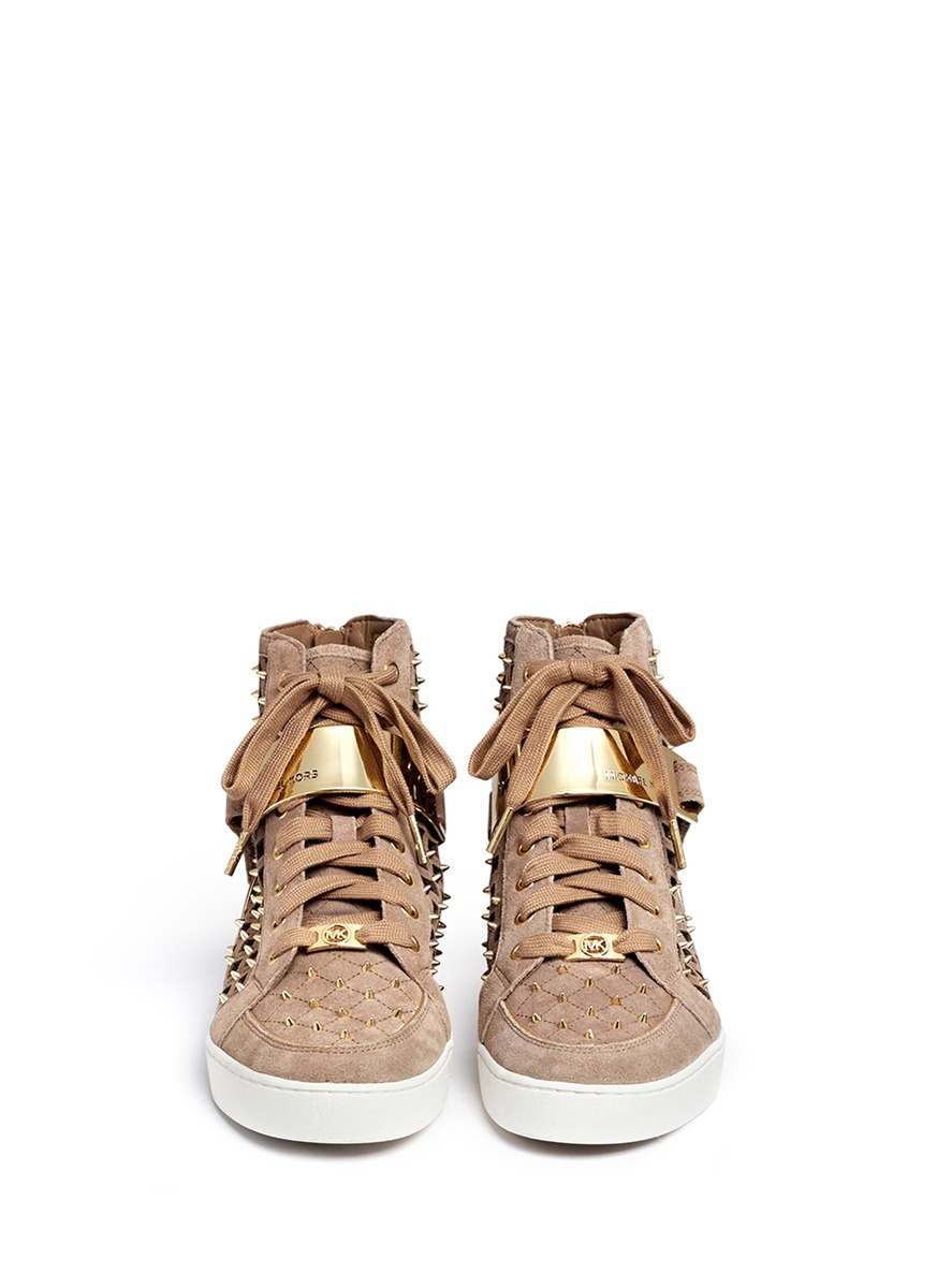 Gold High Top Shoes