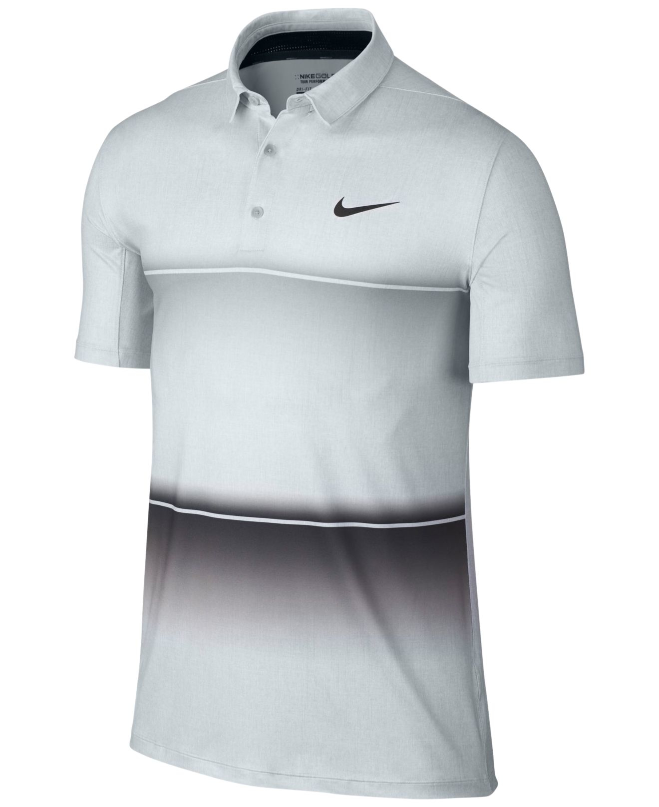 f8093c9c6 Nike Men's Mobility Stripe Dri-fit Golf Polo in Gray for Men - Lyst