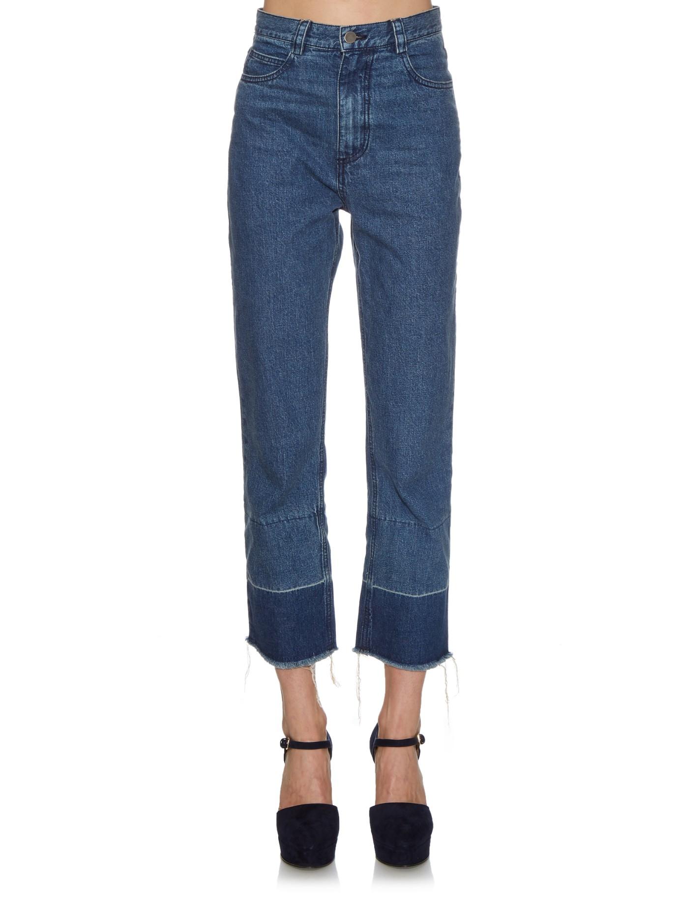 Legion high-rise slim-leg jeans Rachel Comey RutZCrR