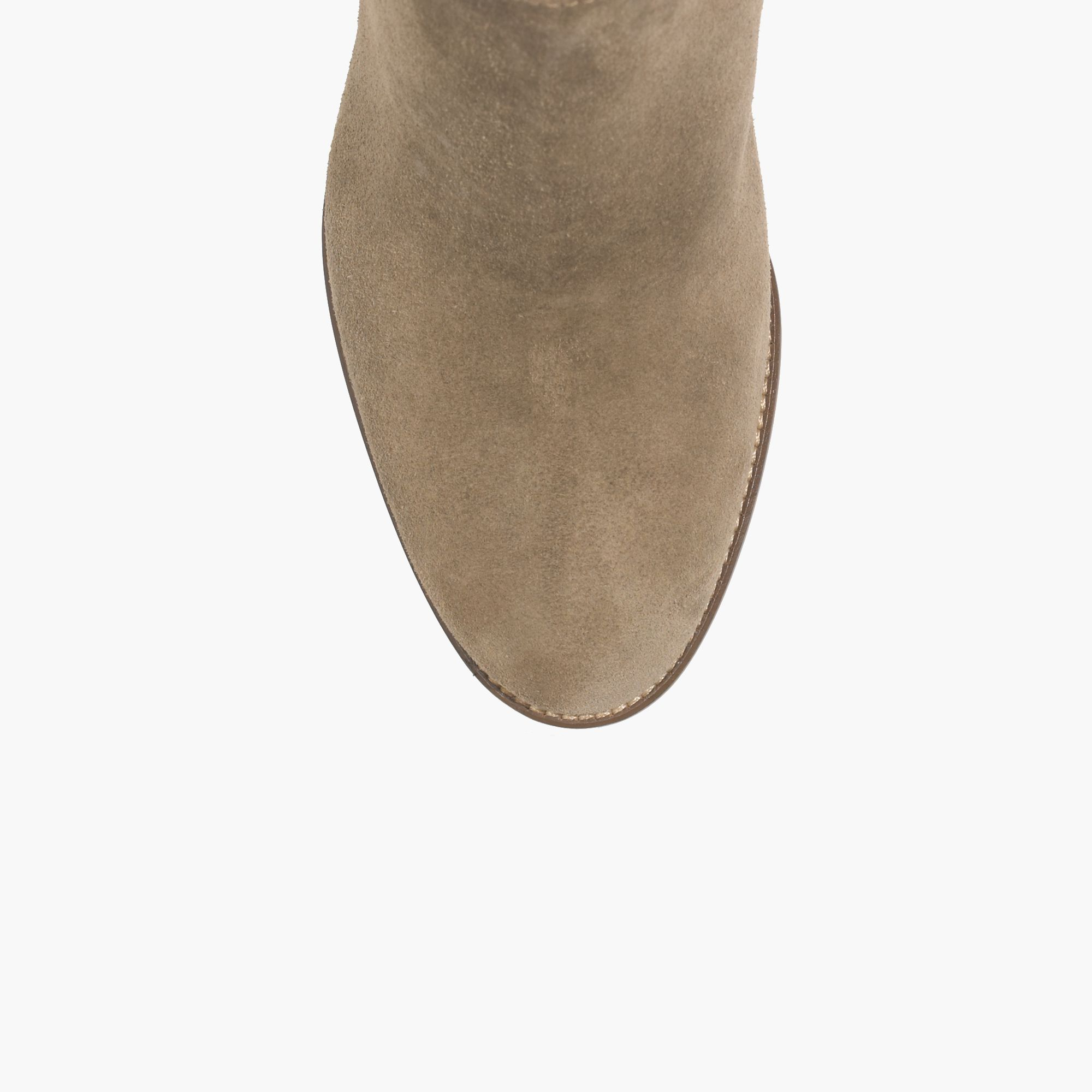 madewell the billie boot in suede in brown lyst