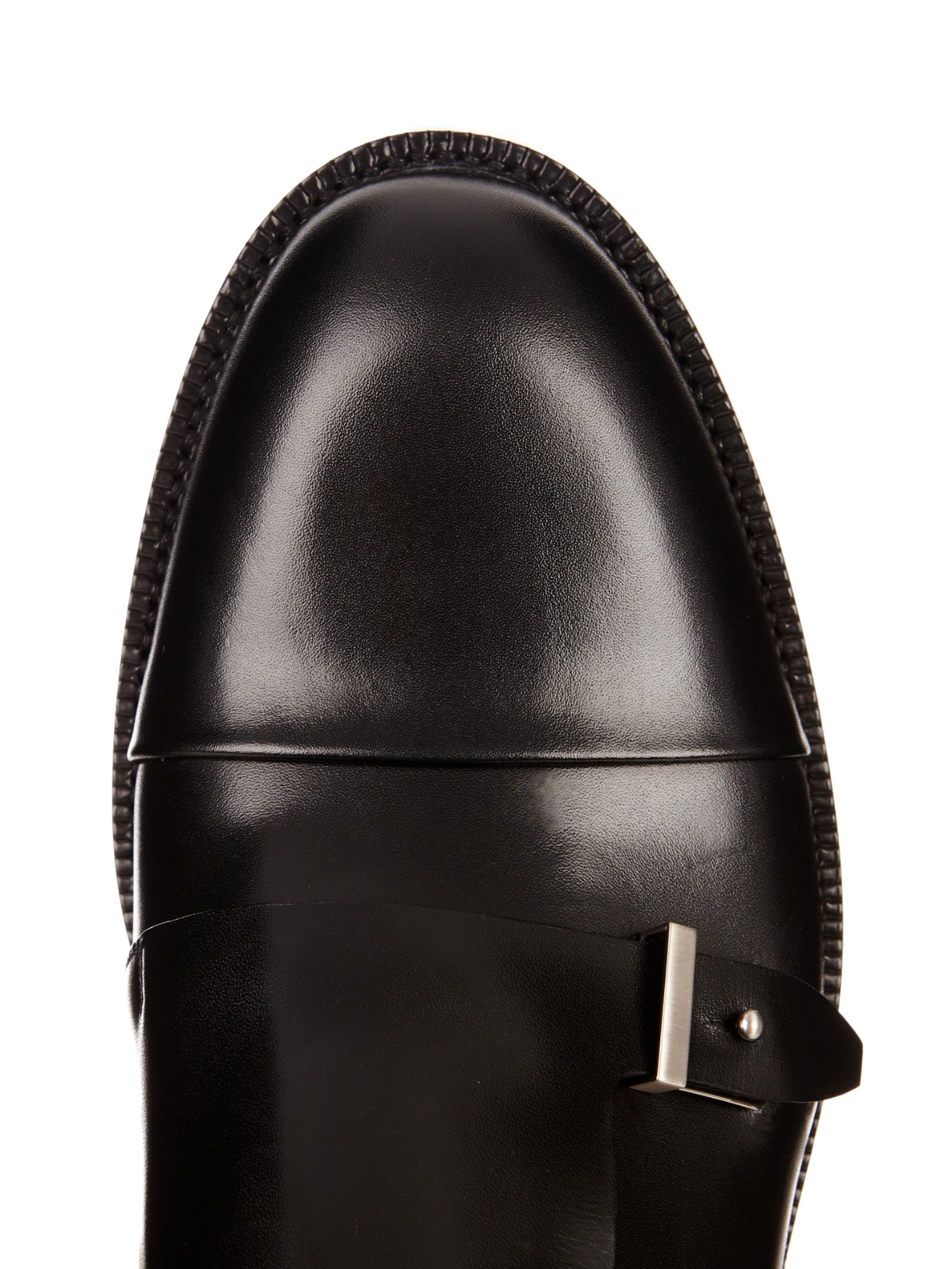 Balenciaga Leather Monk Strap Shoes In Black For Men Lyst